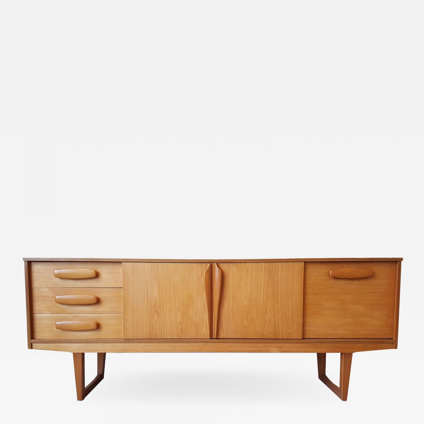 Mid Century Modern Danish Sideboard Or Credenza In Cherry Wood Denmark 1960s