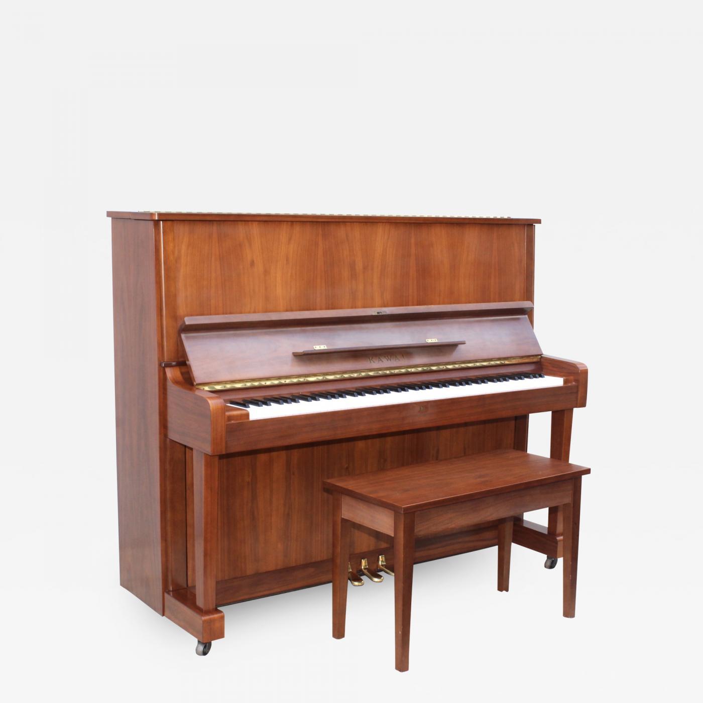 Kawai Upright Piano >> Mid Century Modern Kawai Upright Piano