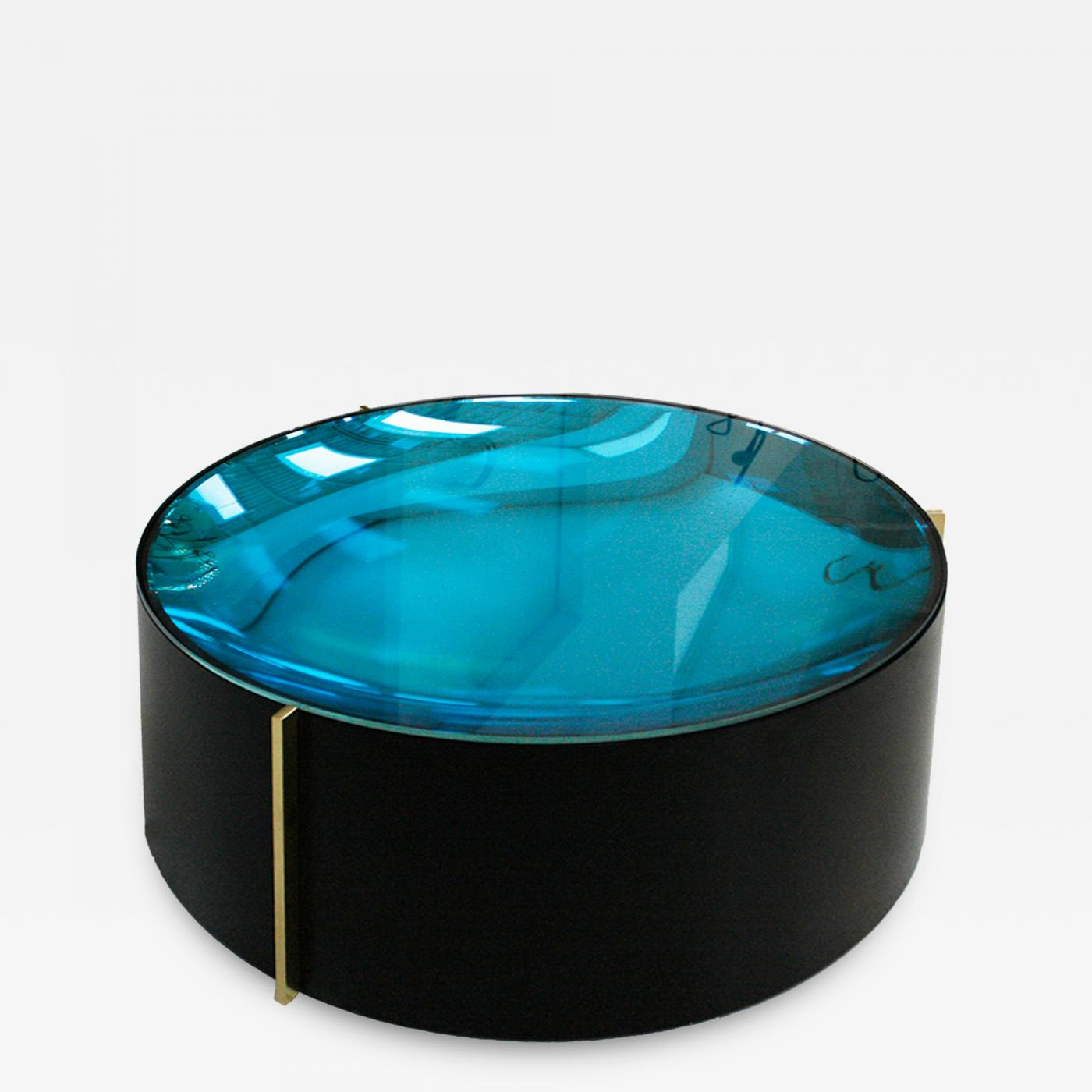 Brilliant Mid Century Modern Style Colored Glass Metal And Brass Italian Coffee Table Interior Design Ideas Clesiryabchikinfo