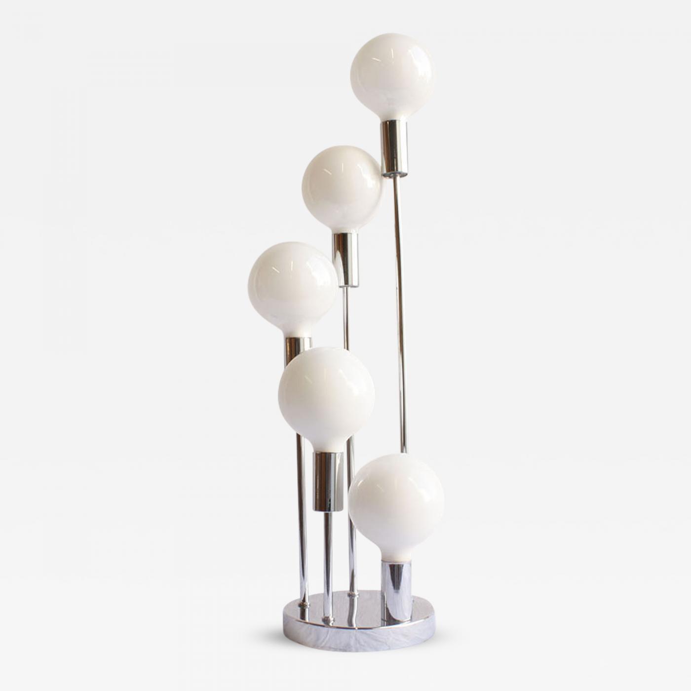 Mid Century Modern Style Chrome Table Lamp