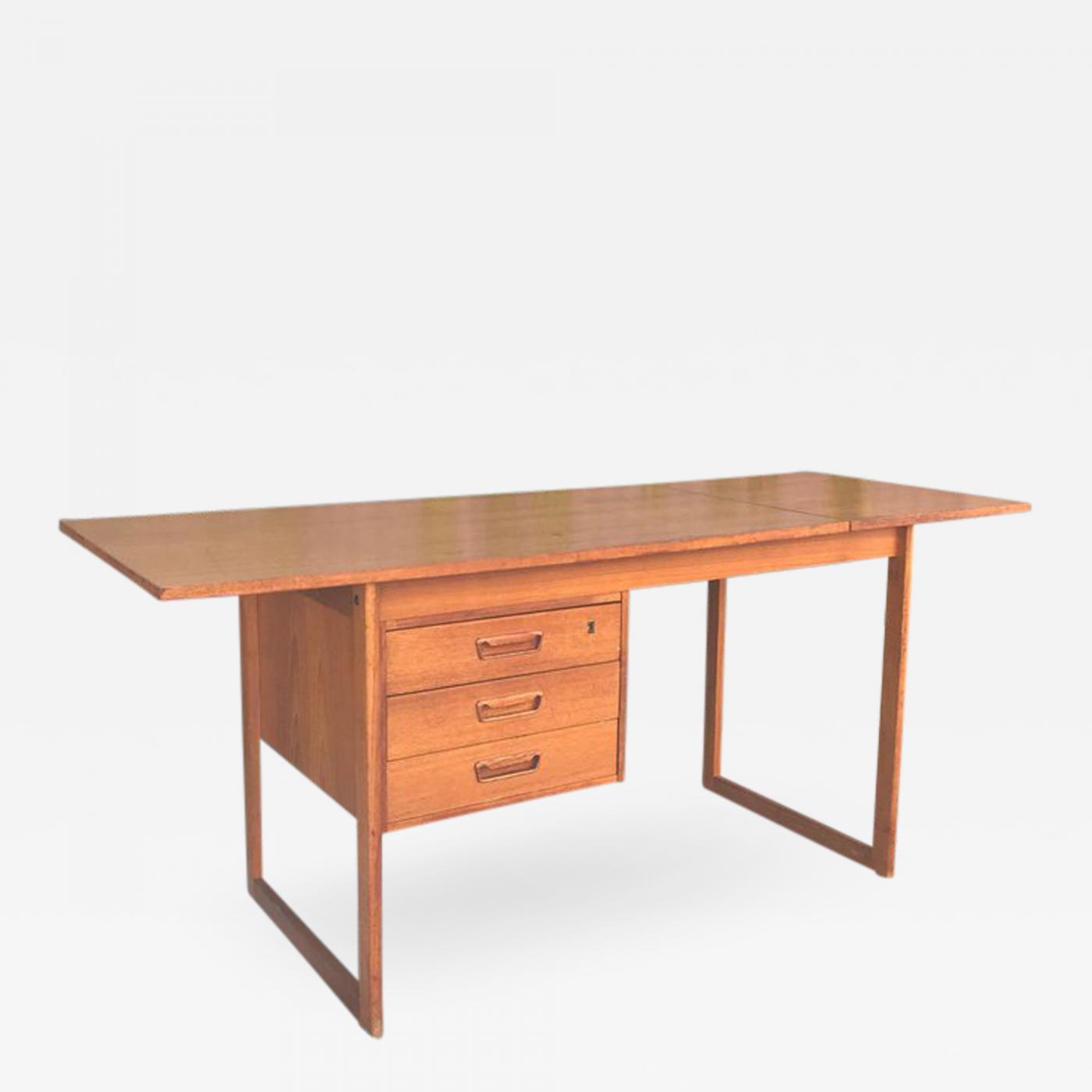 Image of: Arne Vodder Arne Vodder Drop Leaf Midcentury Danish Modern Teak Desk