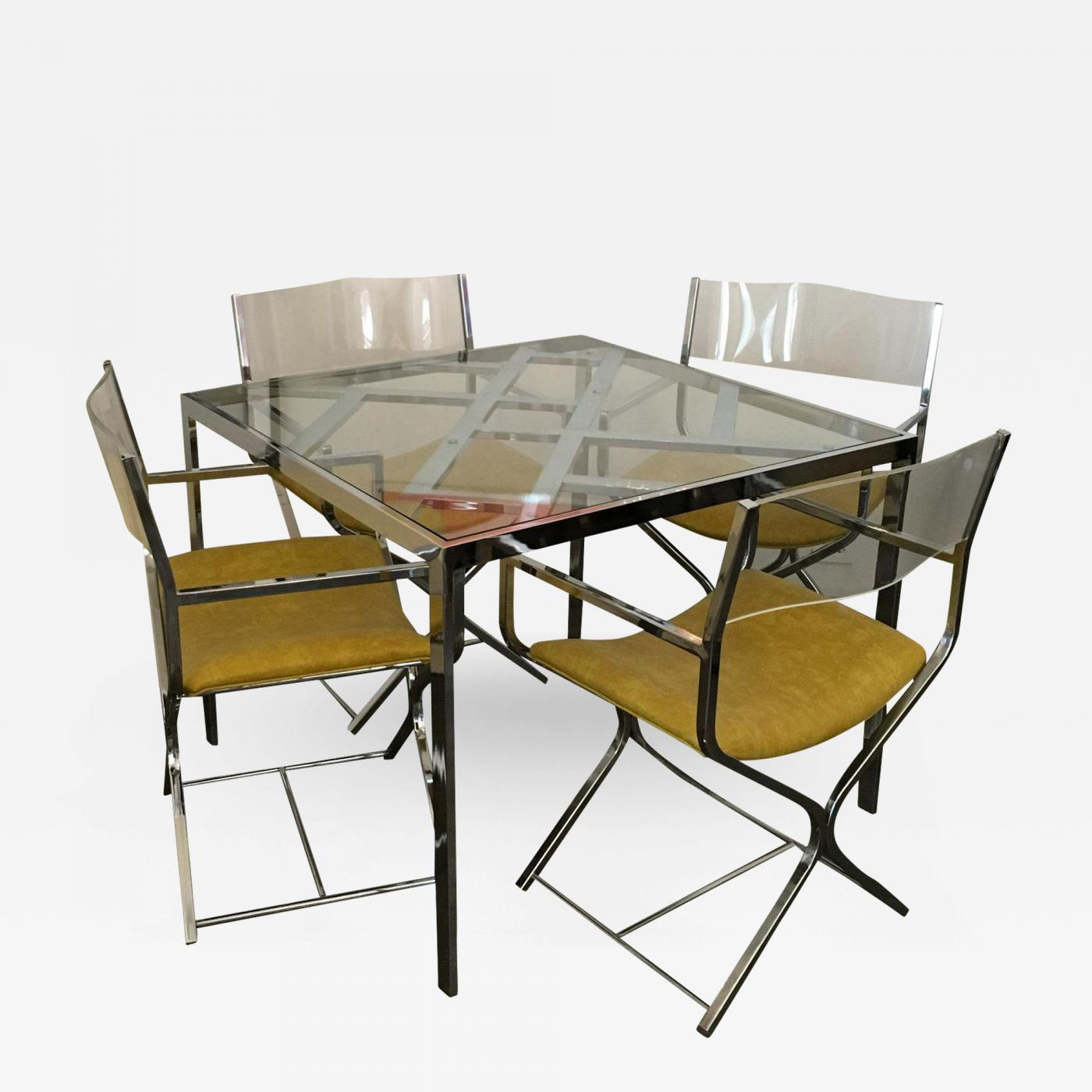 Woburn Dining Table Images Dining Table Ideas : Milo Baughman Chrome Glass Game Dining Table Four Chrome Leather Lucite Armchairs 188059 322422 from sorahana.info size 1400 x 1400 jpeg 119kB