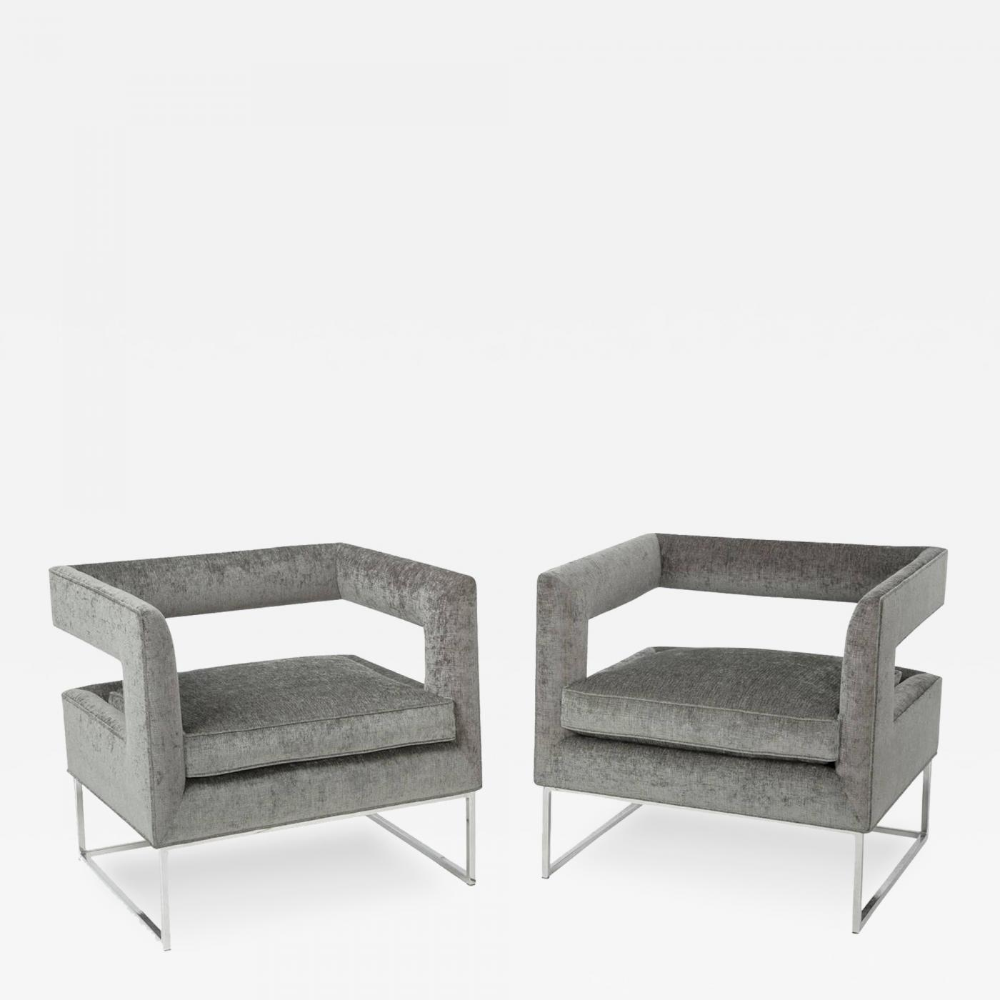 Milo Baughman Floating Cube Chairs by Milo Baughman for Thayer