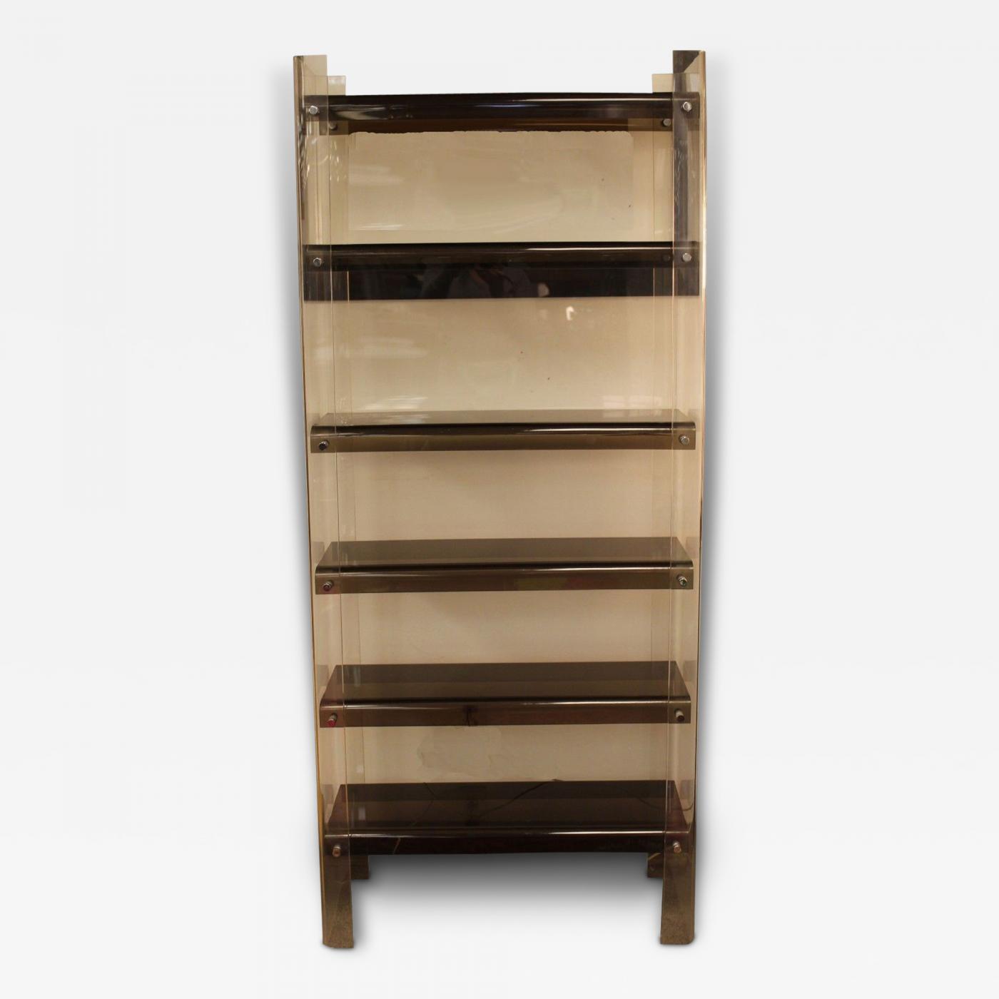 Milo baughman mid century modern milo baughman acrylic - Modern bookshelf wall unit ...