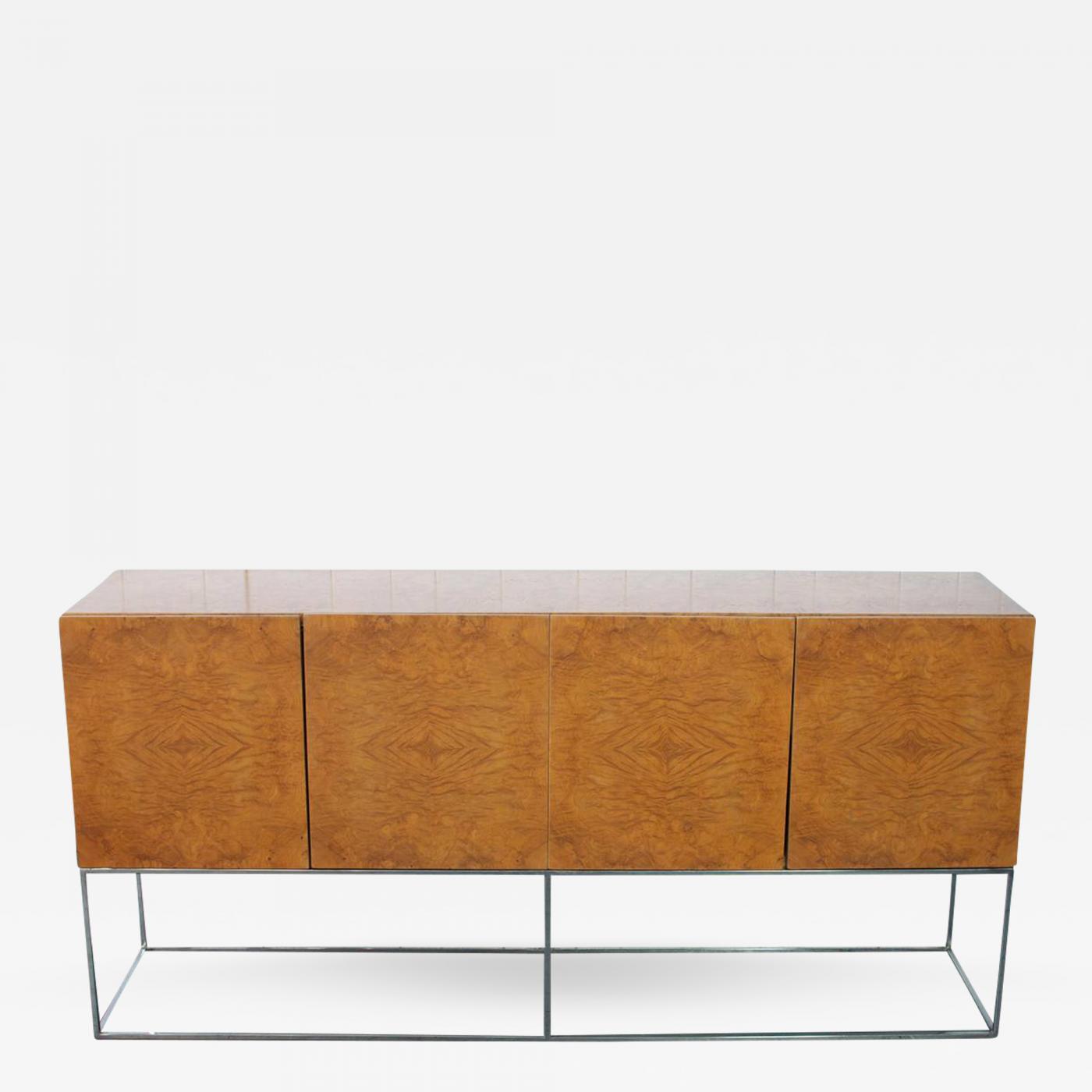 Listings / Furniture / Case Pieces U0026 Storage / Cabinets · Milo Baughman  Milo Baughman Burl Wood Cabinet