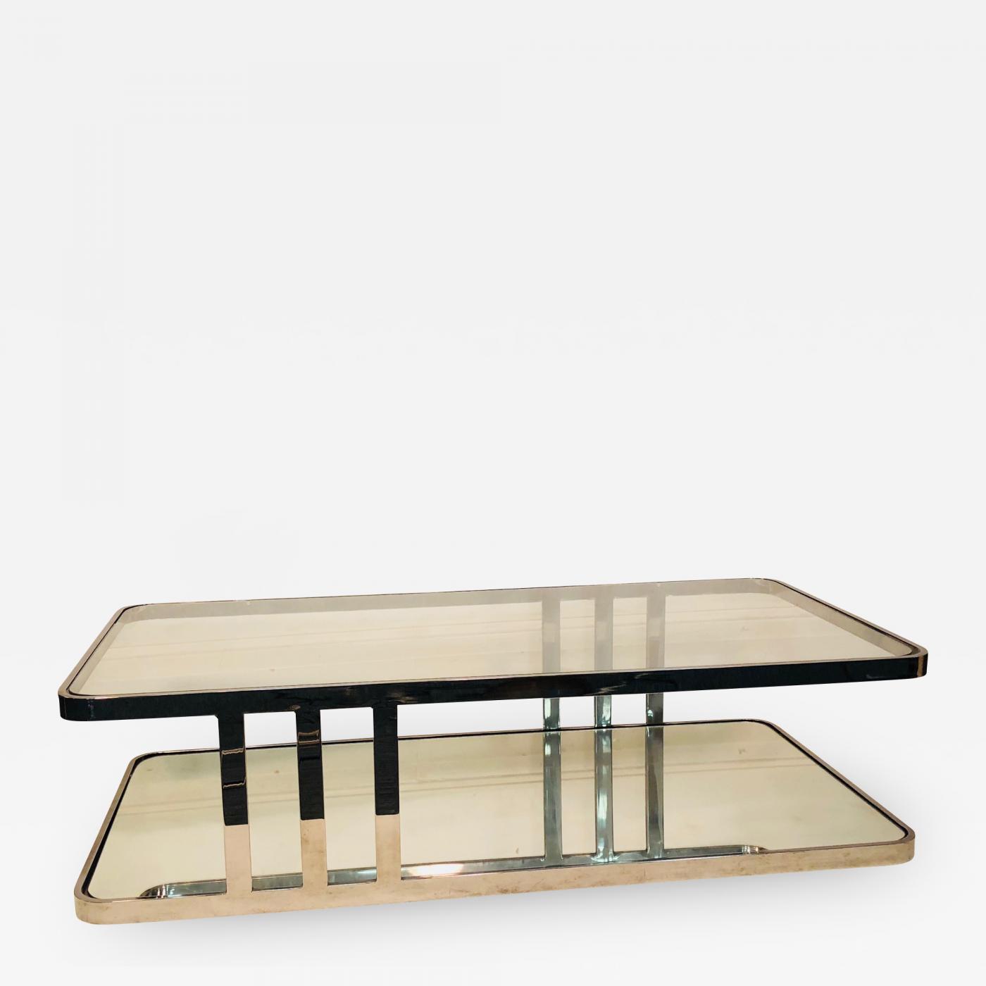 Milo Baughman Chrome Coffee Table: Milo Baughman Coffee Table Chrome And Glass