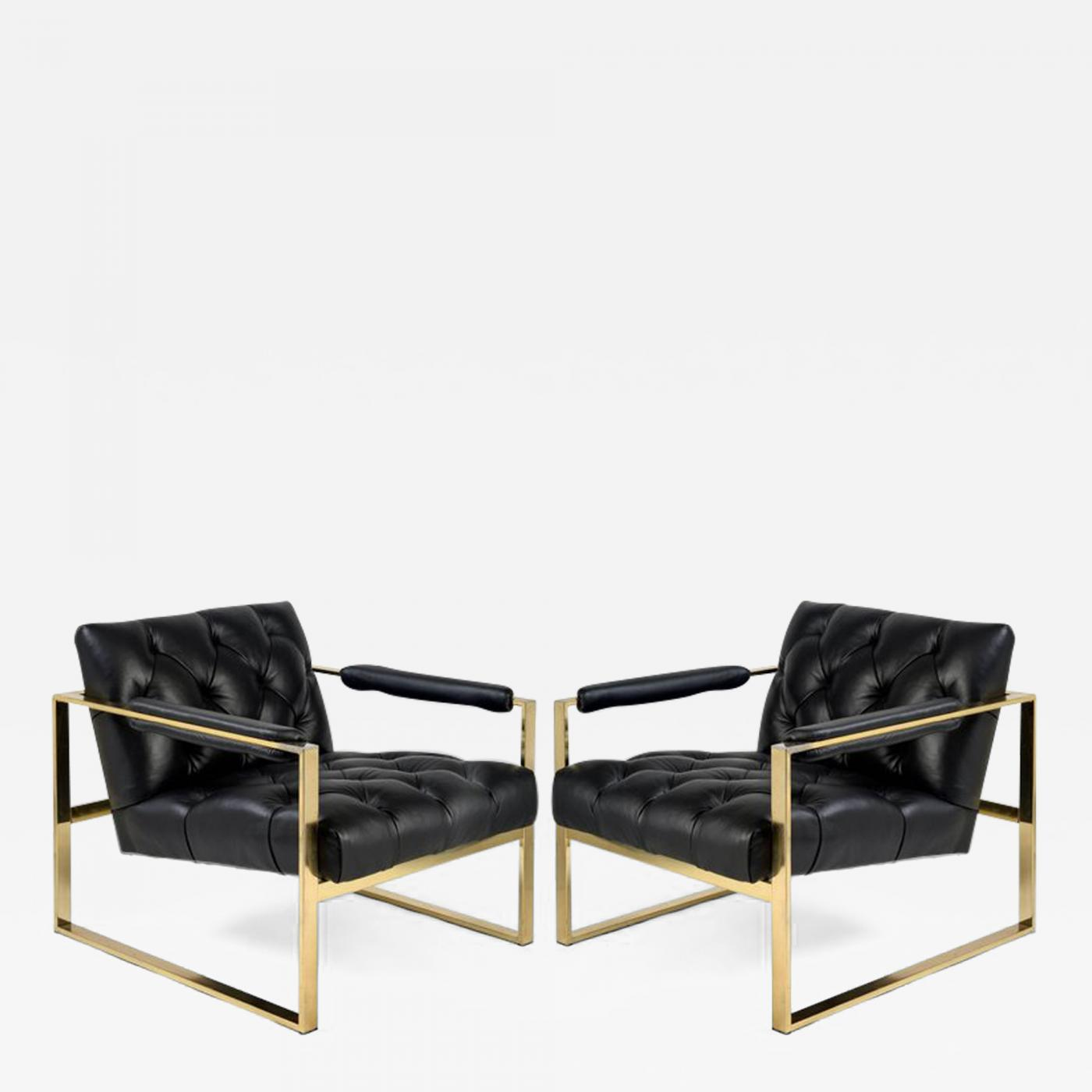 milo baughman furniture. Milo Baughman Pair Of 1970s Flat Bar Chairs Furniture