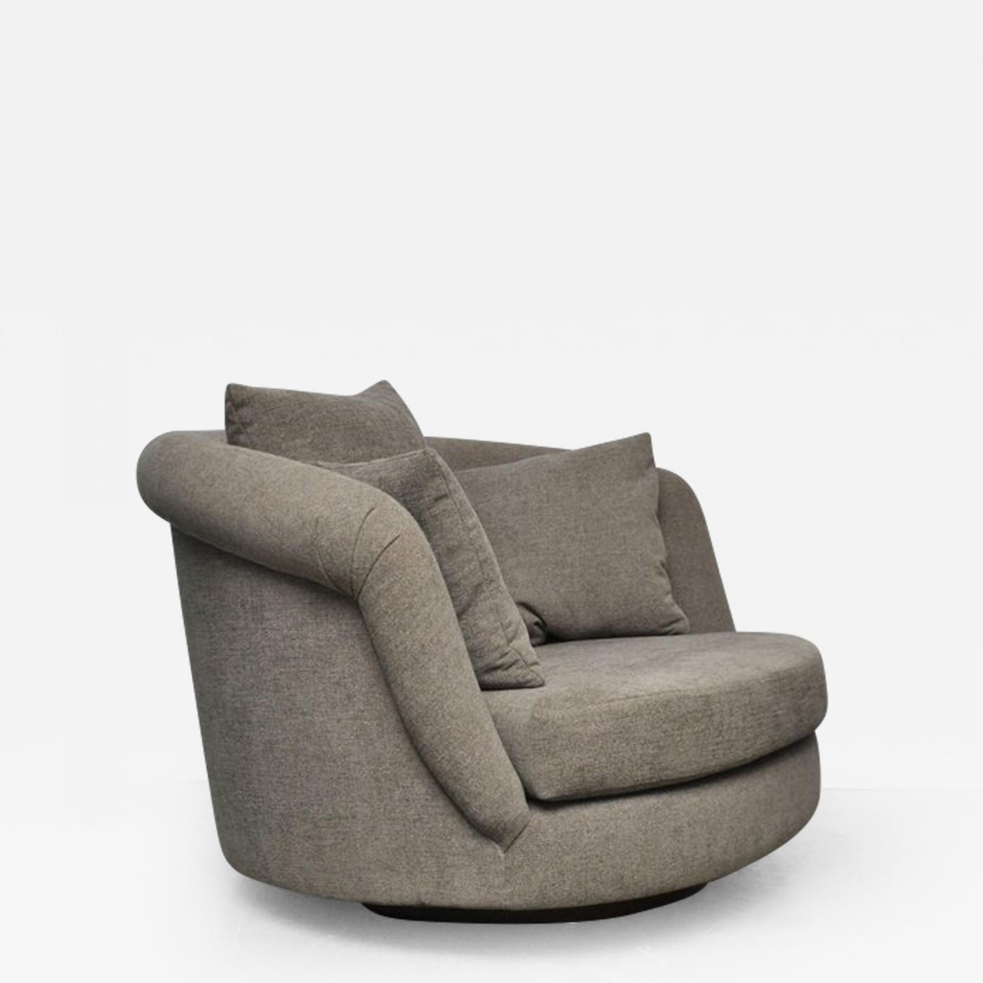 Listings / Furniture / Seating / Club Chairs · Milo Baughman Pair Of Large Milo  Baughman Swivel Chairs