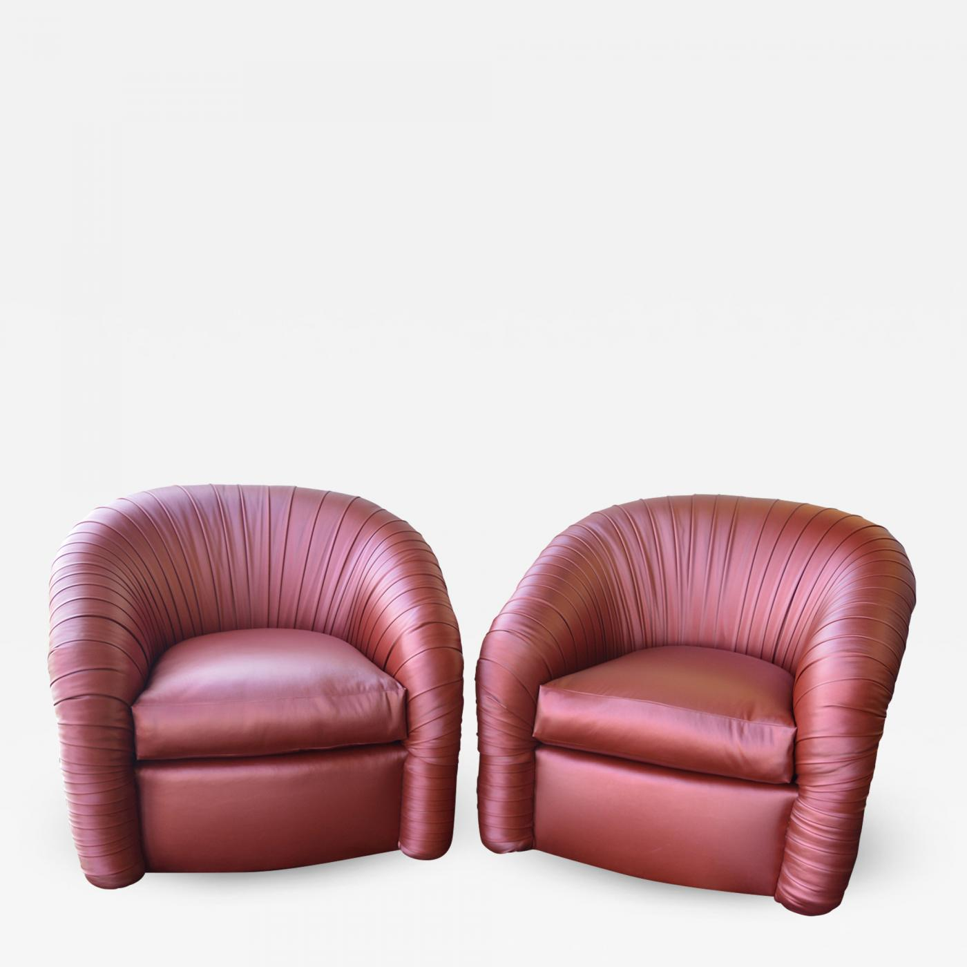 Strange Milo Baughman Pair Of Mid Century Modern Swivel Chairs Caraccident5 Cool Chair Designs And Ideas Caraccident5Info