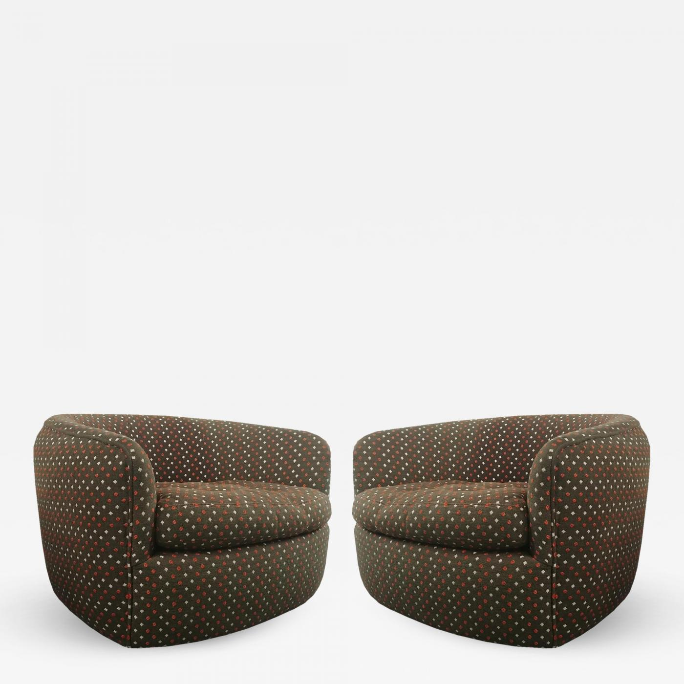 Outstanding Milo Baughman Swivel Tub Chairs Designed By Milo Baughman Camellatalisay Diy Chair Ideas Camellatalisaycom
