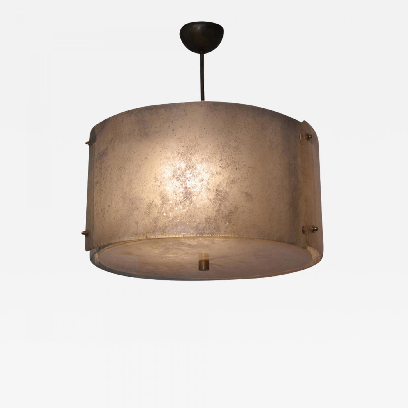 Modern Murano Glass Drum Chandelier