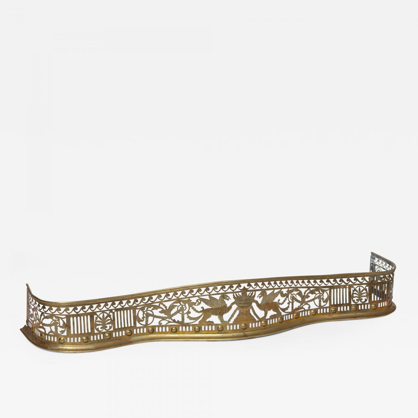 Neoclassical Brass Fireplace Fender 1775 1795