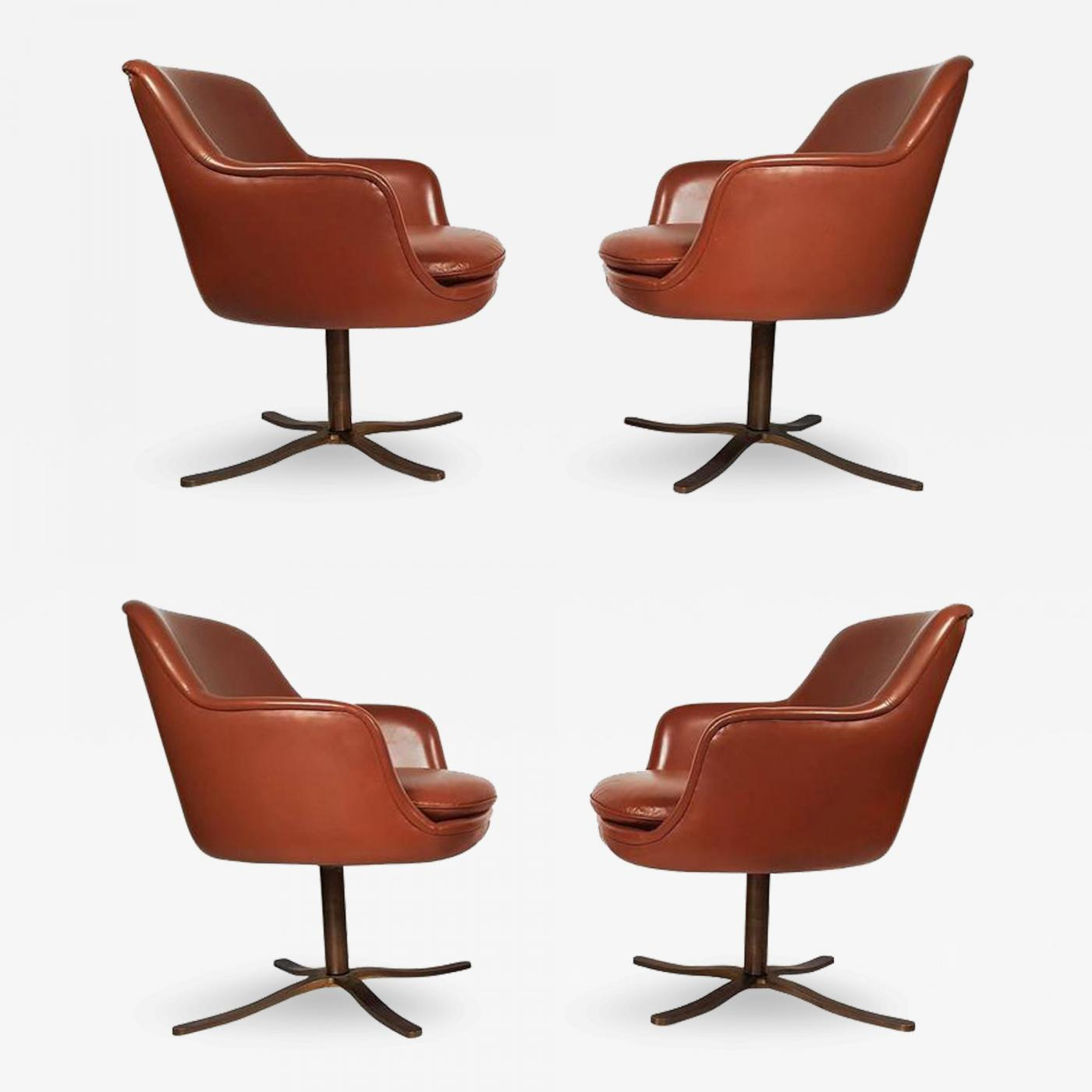nicos zographos set of four leather nicos zographos dining chairs