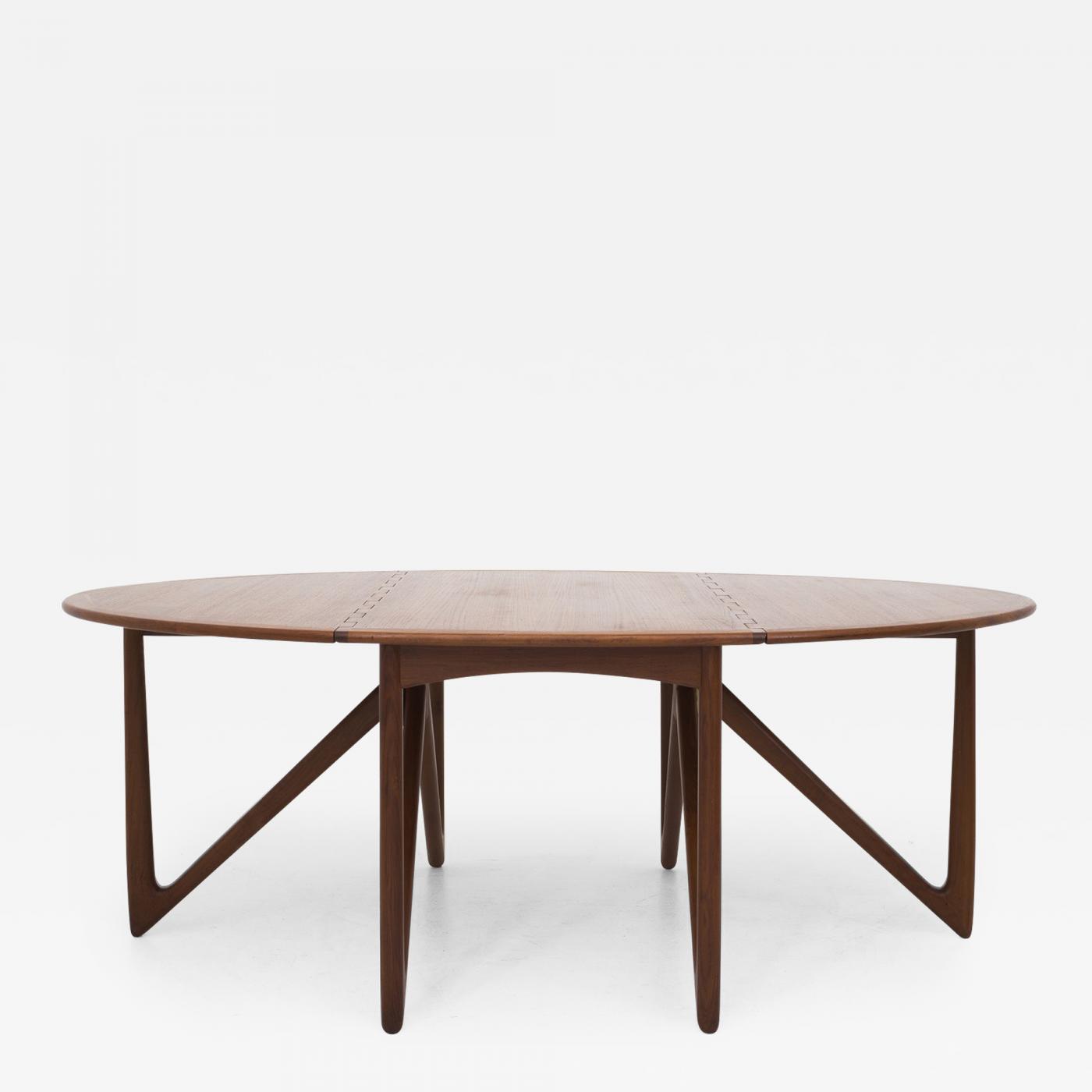 Niels koefoed gateleg dining table for Gateleg dining table
