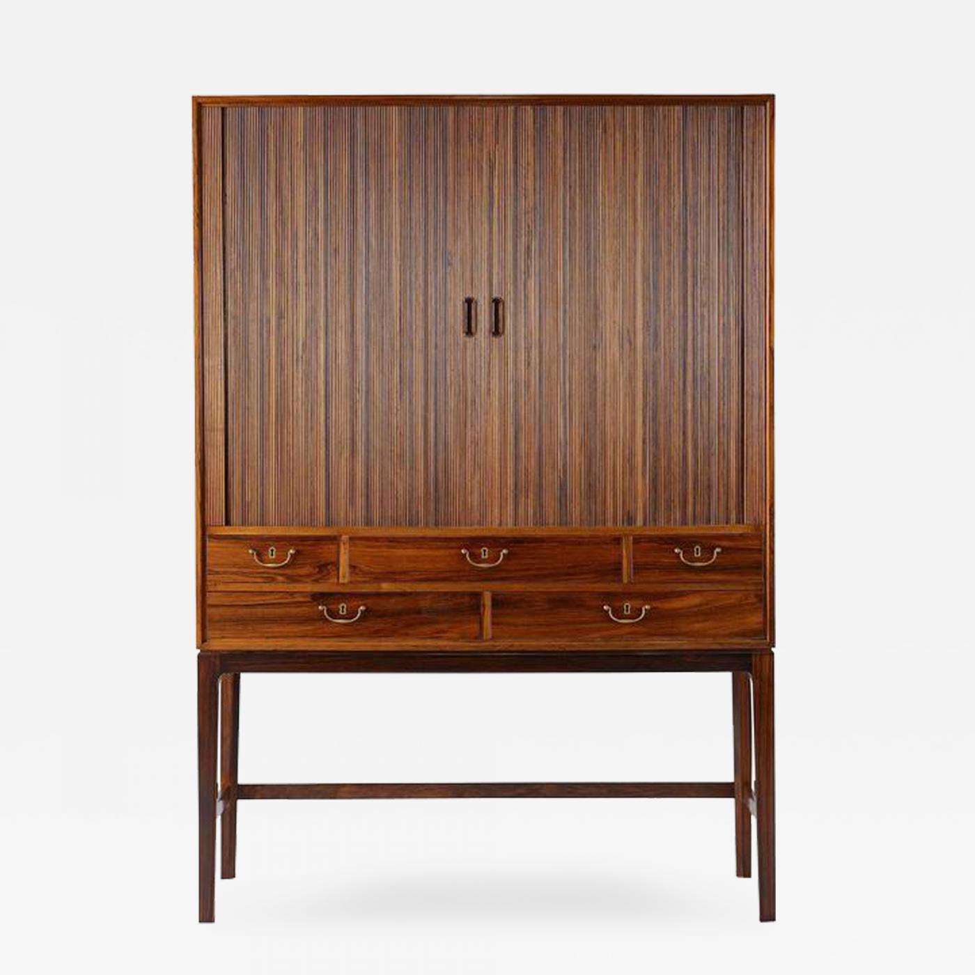 Ole Wanscher - Ole Wanscher Rosewood Tambour Cabinet