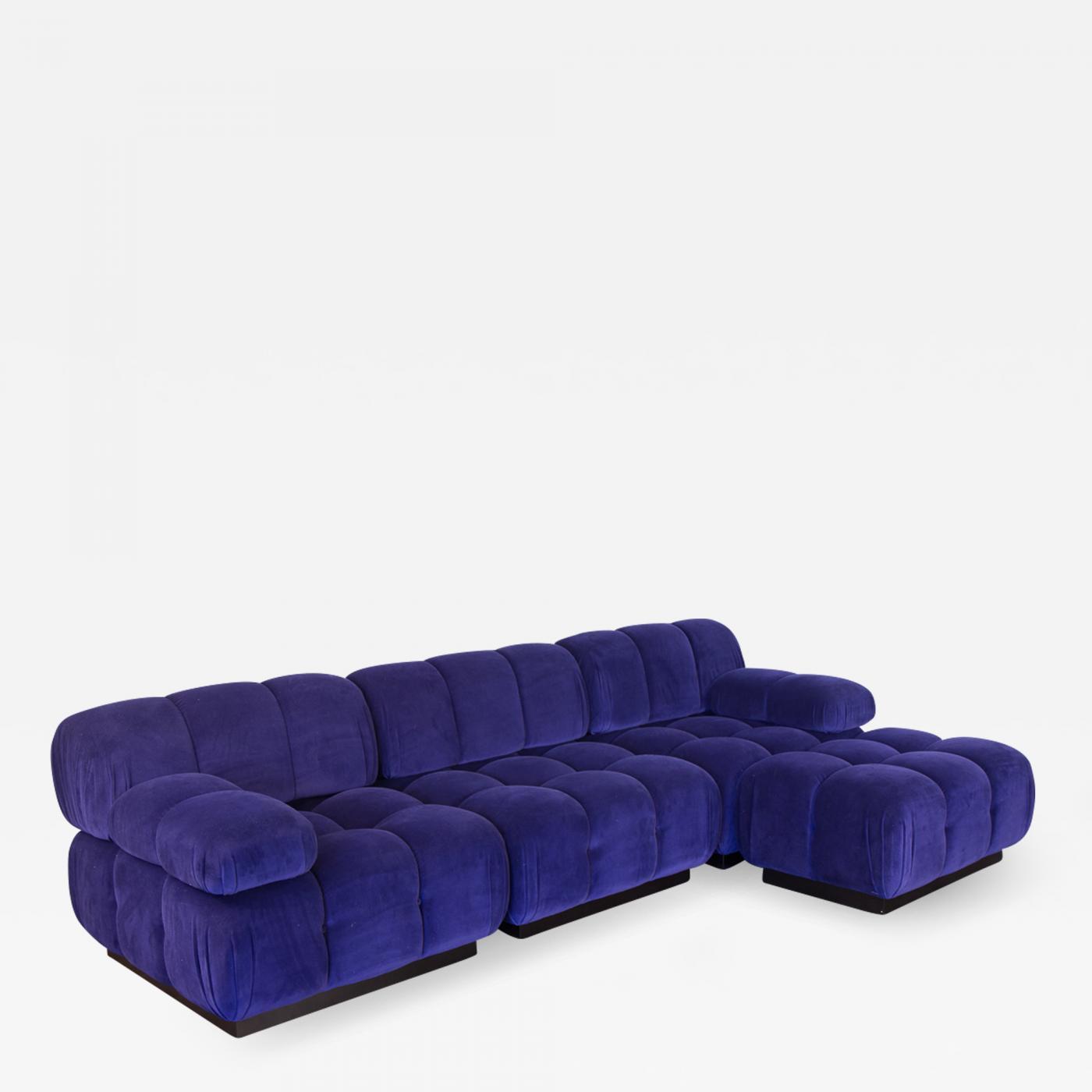 Wondrous Open Air Modern Purple Blue Velvet Custom Modular Tufted Ncnpc Chair Design For Home Ncnpcorg