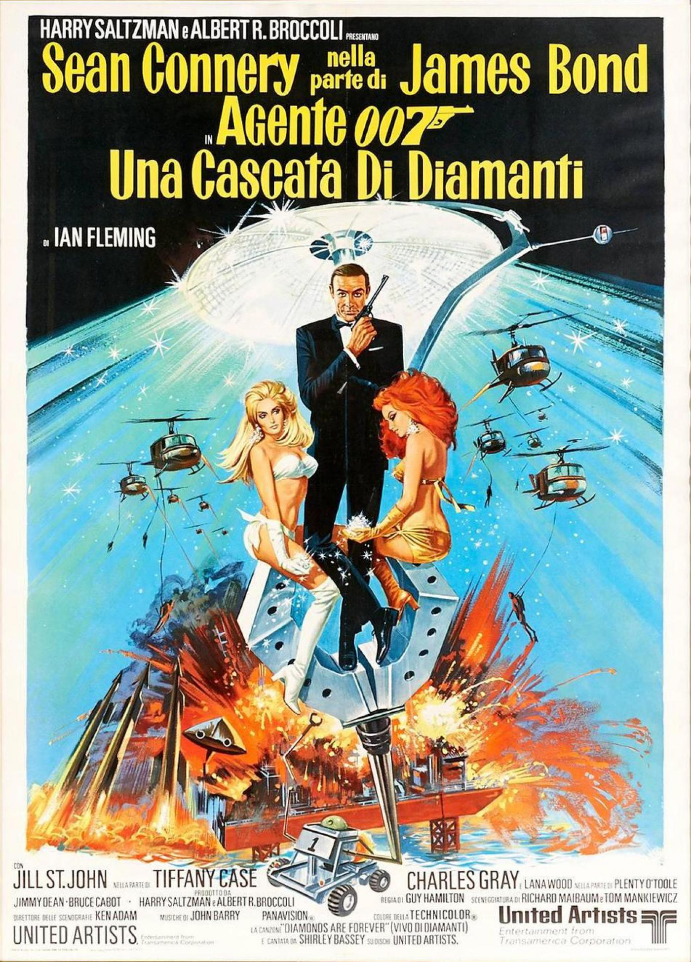 Original 1971 Italian James Bond Movie Poster Quot Diamonds
