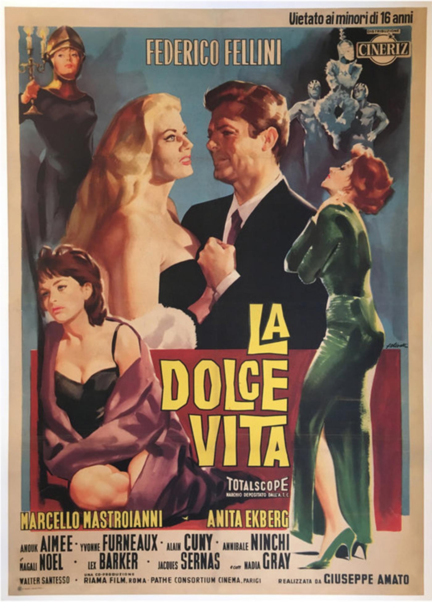 Federico Fellini Original Quot La Dolce Vita Quot Film Poster 1960