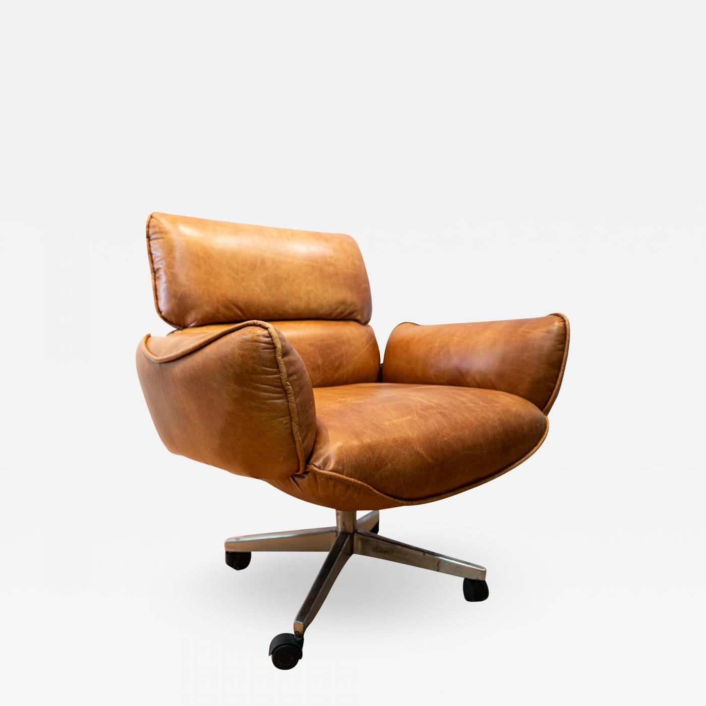 Groovy Otto Zapf Executive Vintage Leather Desk Chair Designed By Otto Zapf Gamerscity Chair Design For Home Gamerscityorg