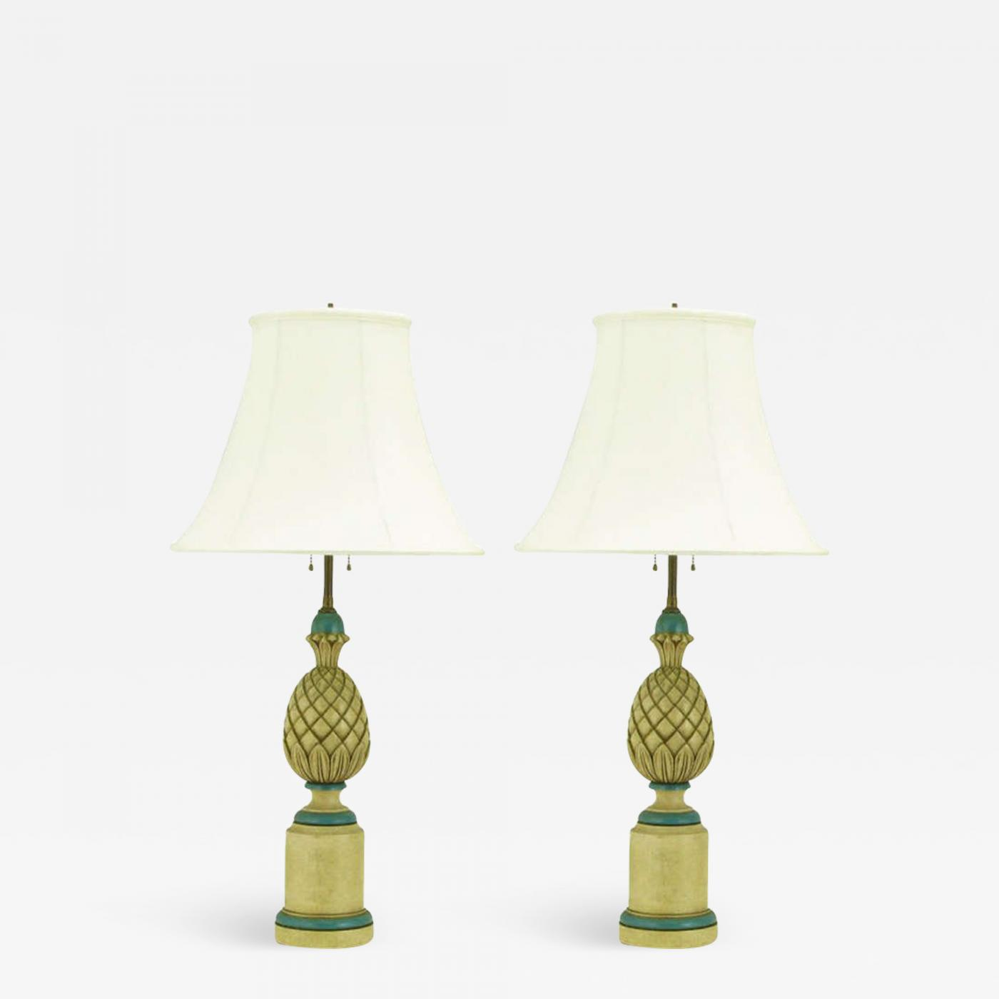 gold double lamps white modern gourd pineapple top industrial lamp design table exceptional