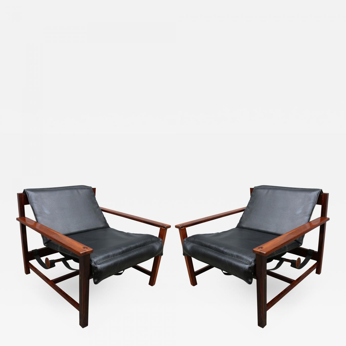 Cool Pair Of 1960S Brazilian Jacaranda Reclining Lounge Chairs Short Links Chair Design For Home Short Linksinfo