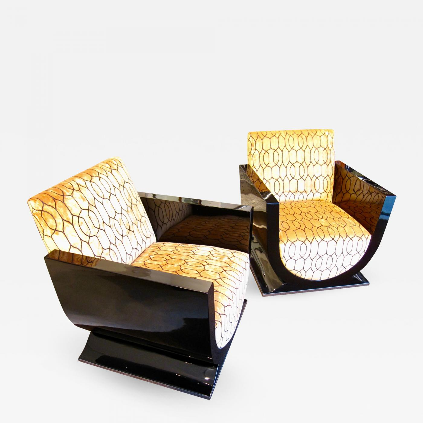 Listings / Furniture / Seating / Armchairs · Pair Of Art Deco Club ...
