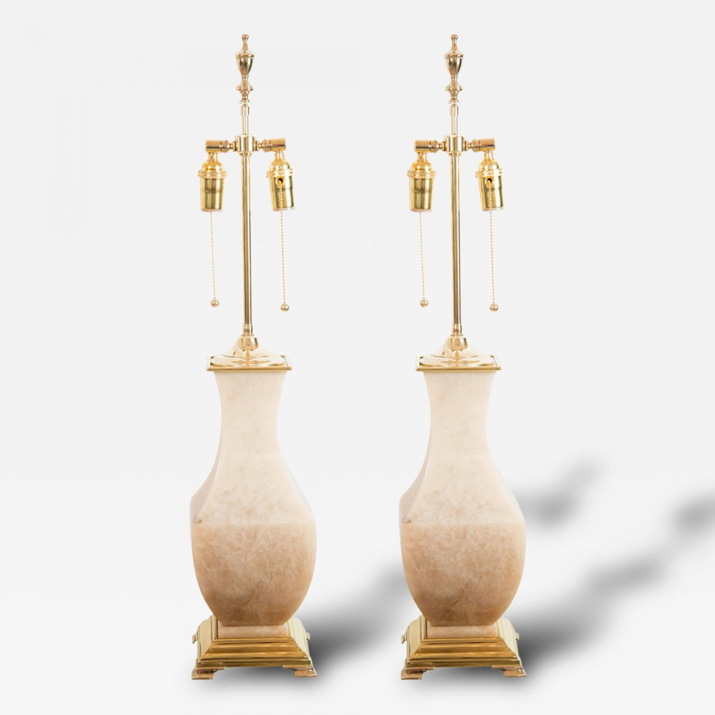 Pair of brass and onyx table lamps mozeypictures Images