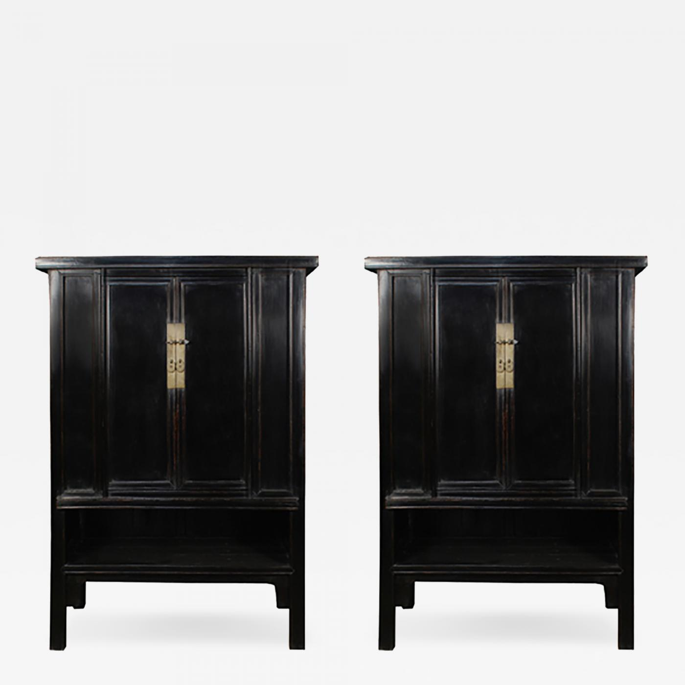 28 pair of narrow lacquer two door cabinets at 1stdibs pair
