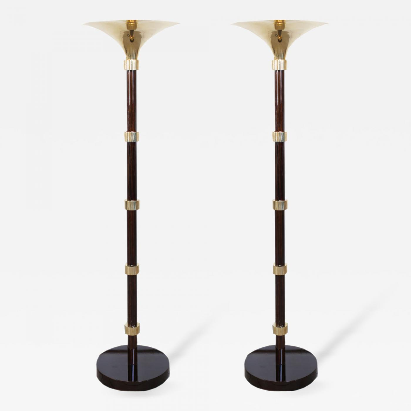 Pair of french art deco torchieres floor lamps circa 1930s for 1930s floor lamps