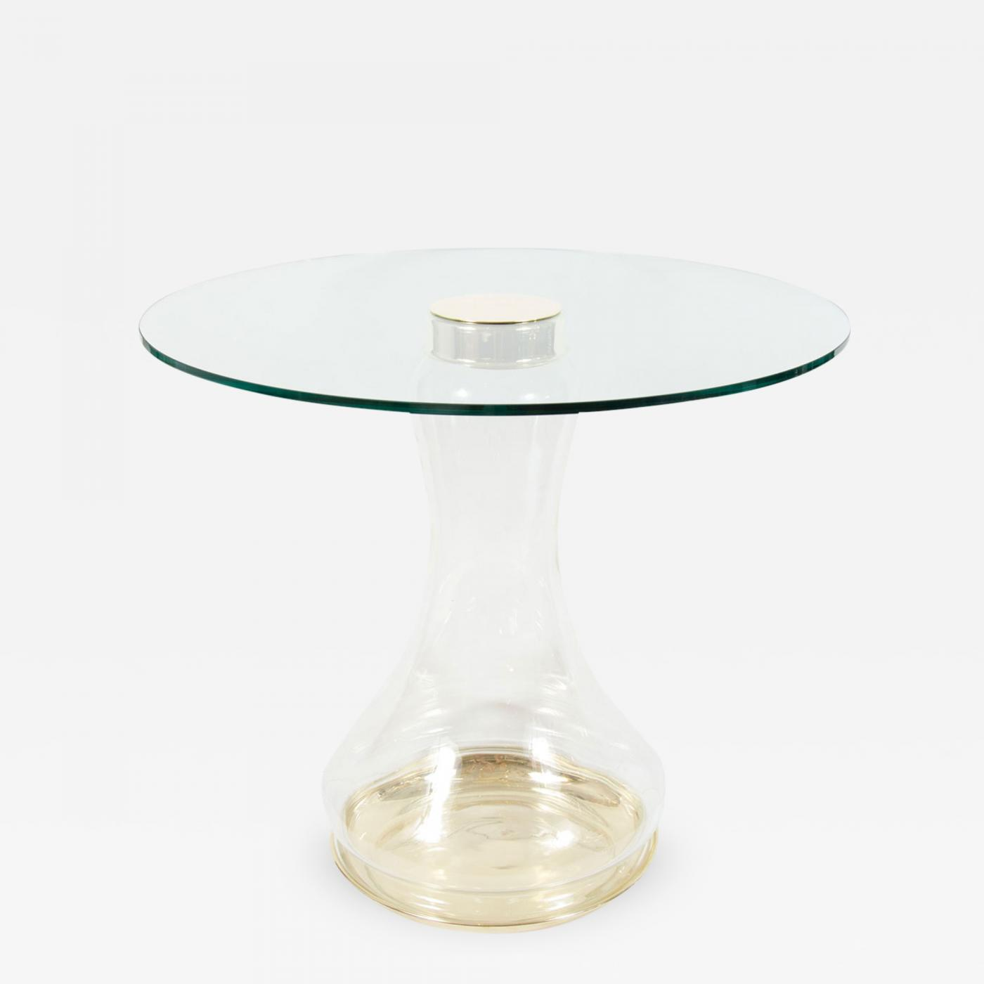 glass form furniture vincenzo de listings furniture tables side pair of glass urn form base