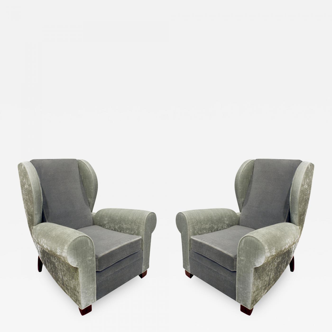 Listings / Furniture / Seating / Club Chairs · Pair Of Large Sculptural French  Wing ...