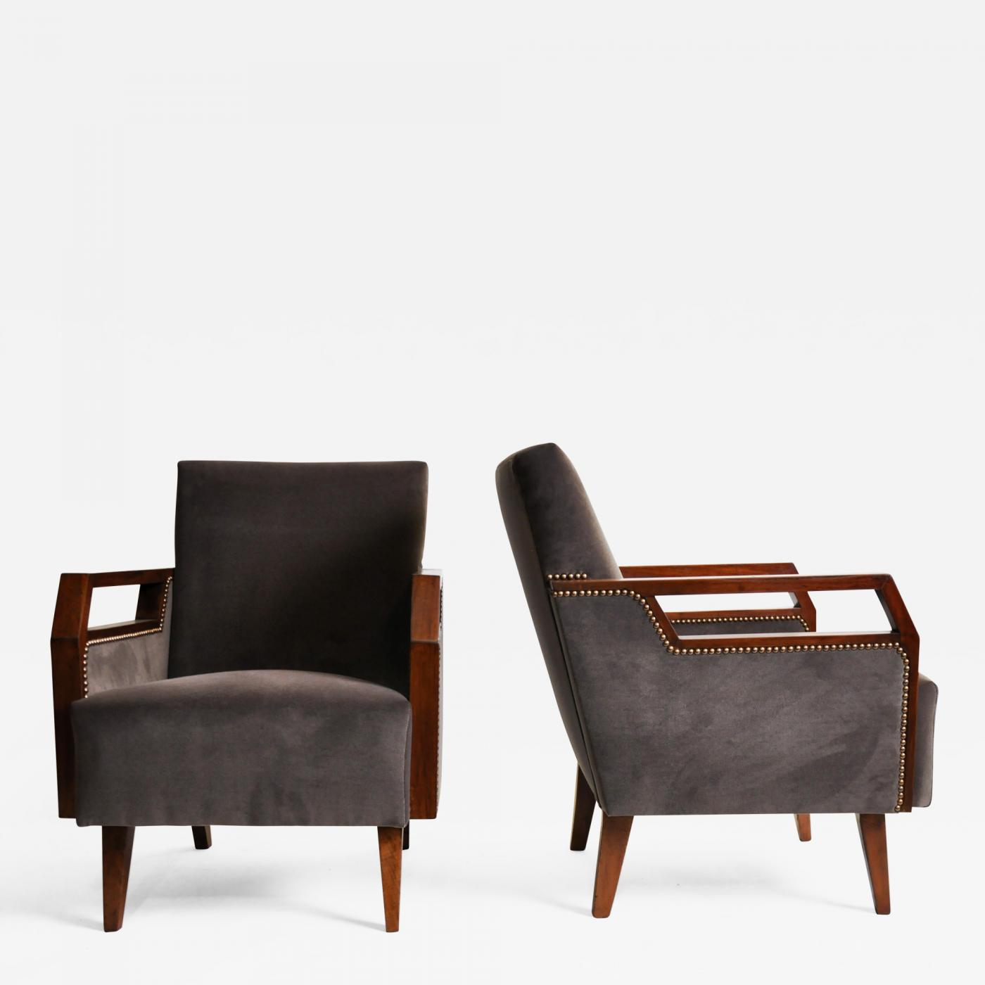 d96cda62d23d8 Listings   Furniture   Seating   Club Chairs · Pair of Mid Century ...