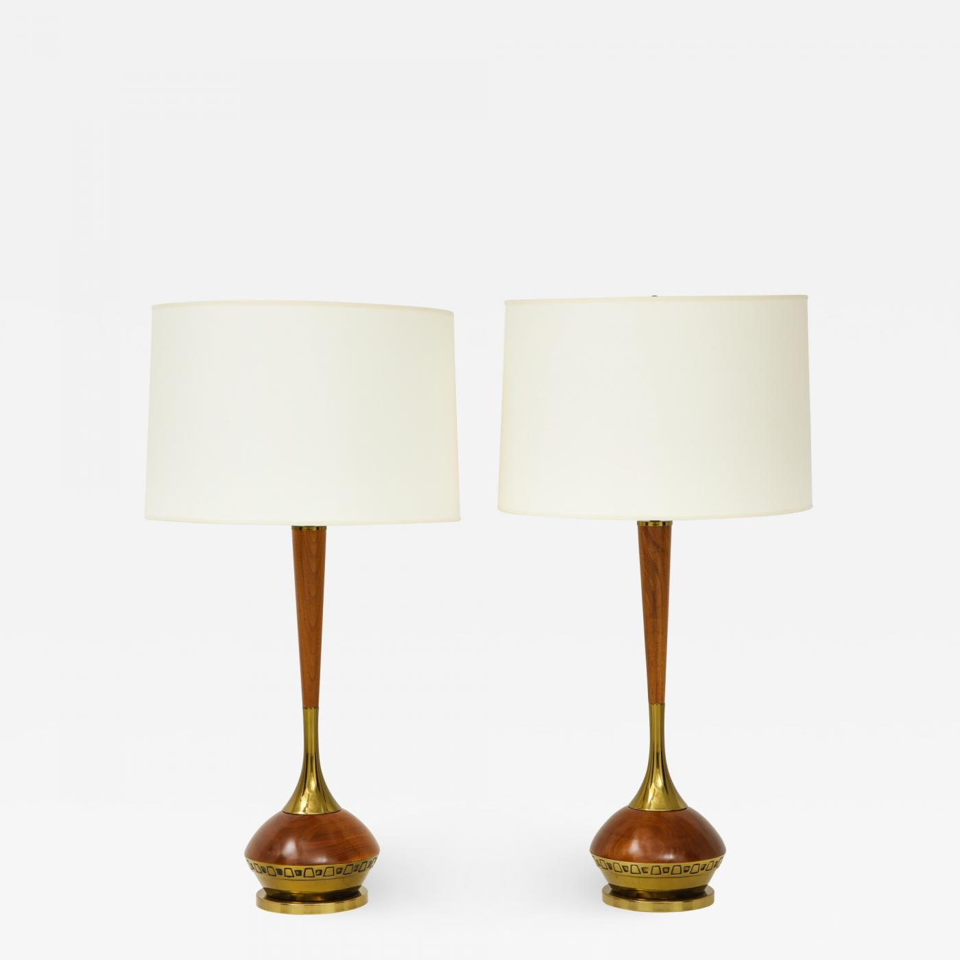 Pair Of Mid Century Modern Table Lamps By Laurel Lamp Company