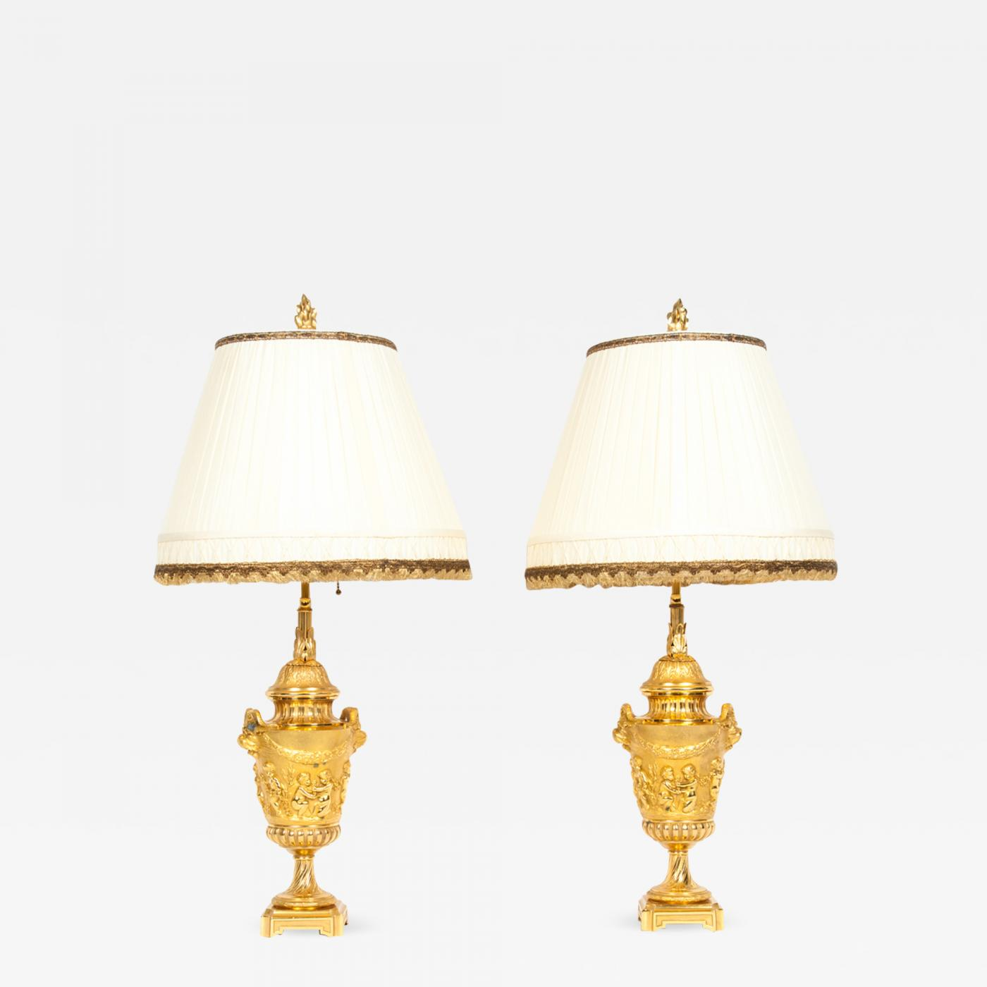 Neoclassical lighting Study Click On Image To Enlarge Dakshco Pair Of Neoclassical Gilt Bronze Urn Form Table Lamps
