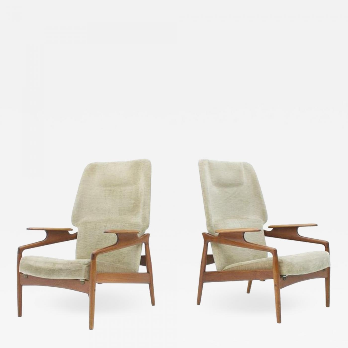Miraculous John Bone Pair Of Reclining Lounge Chairs By John Bone Denmark 1960S Short Links Chair Design For Home Short Linksinfo