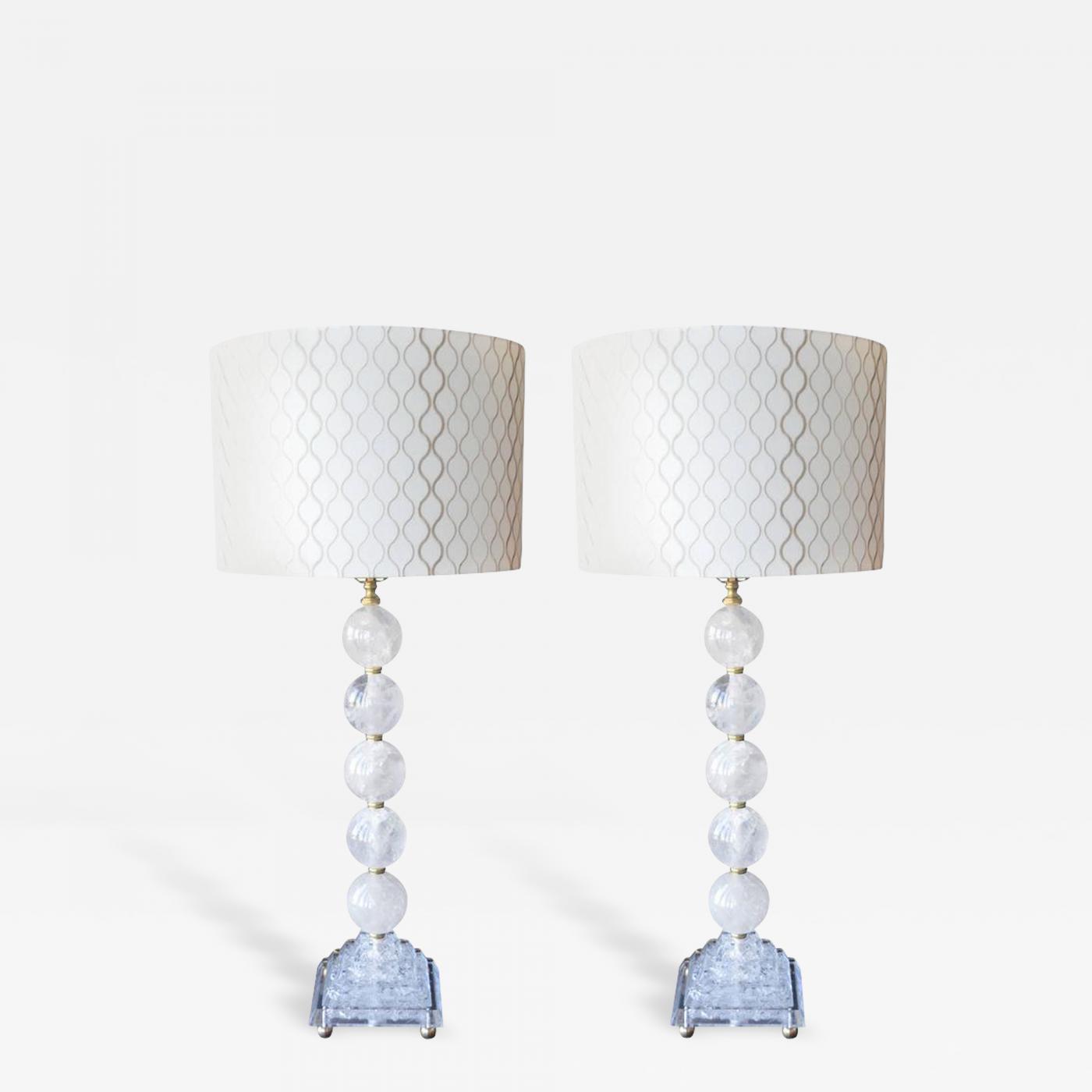 Pair of rock crystal table lamps listings furniture lighting table lamps pair of rock crystal mozeypictures Gallery