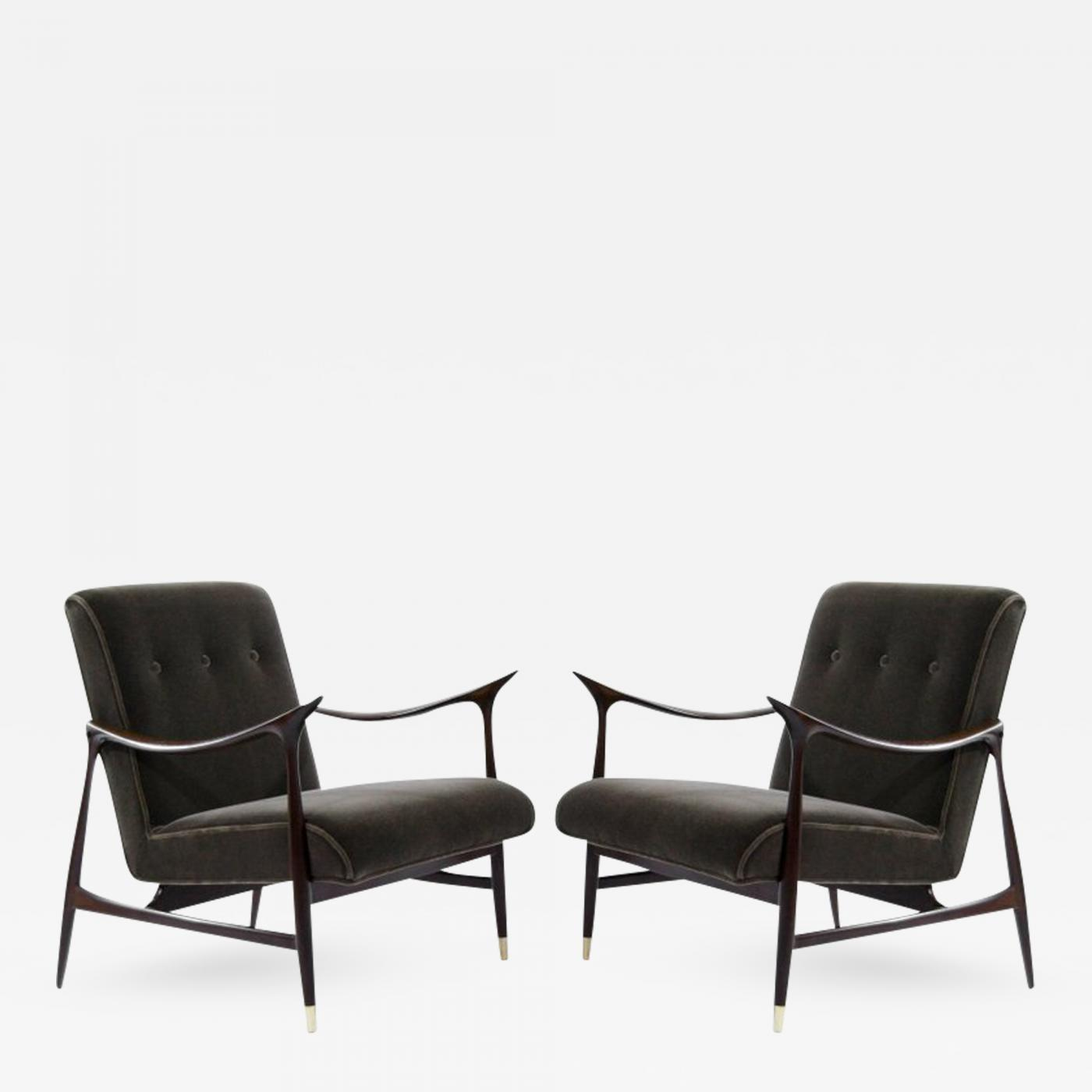 Outstanding Sculptural Brazilian Lounge Chairs In Mohair Ibusinesslaw Wood Chair Design Ideas Ibusinesslaworg