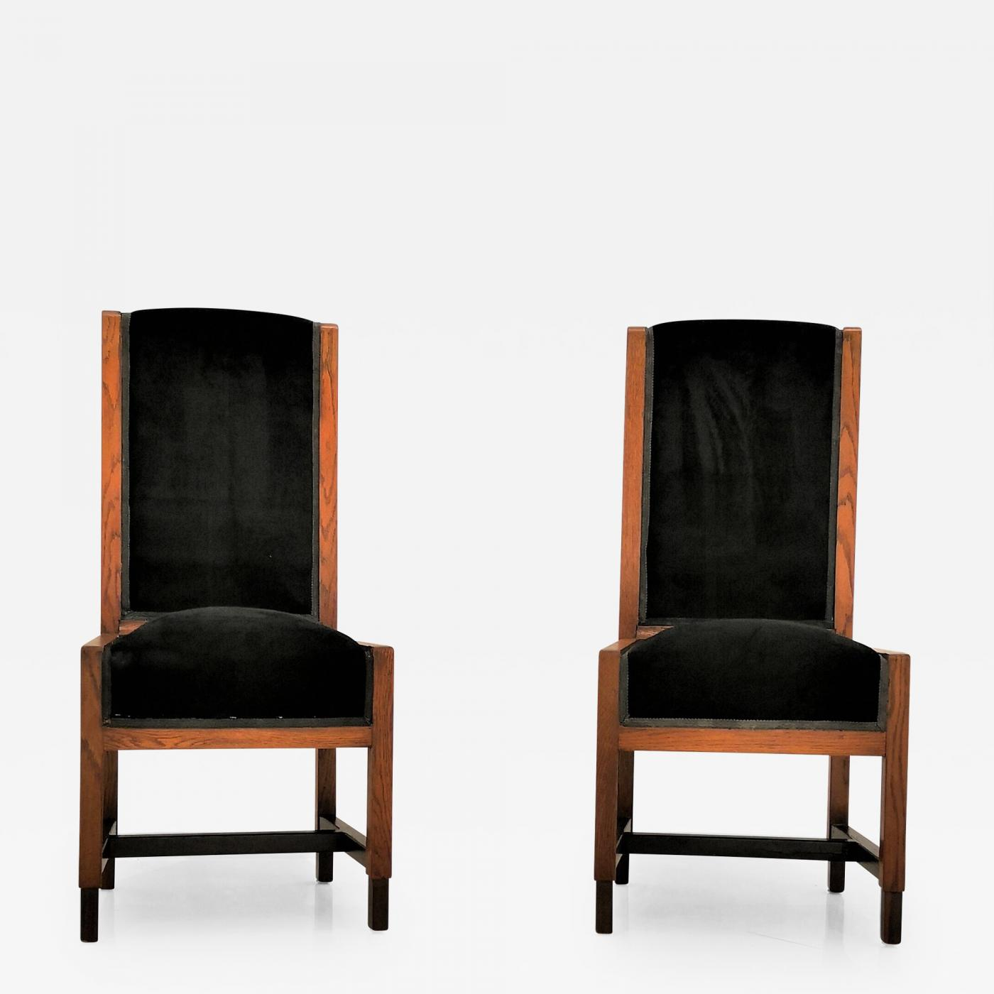 Pair Of Swedish Art Deco Chairs Sweden 1930s