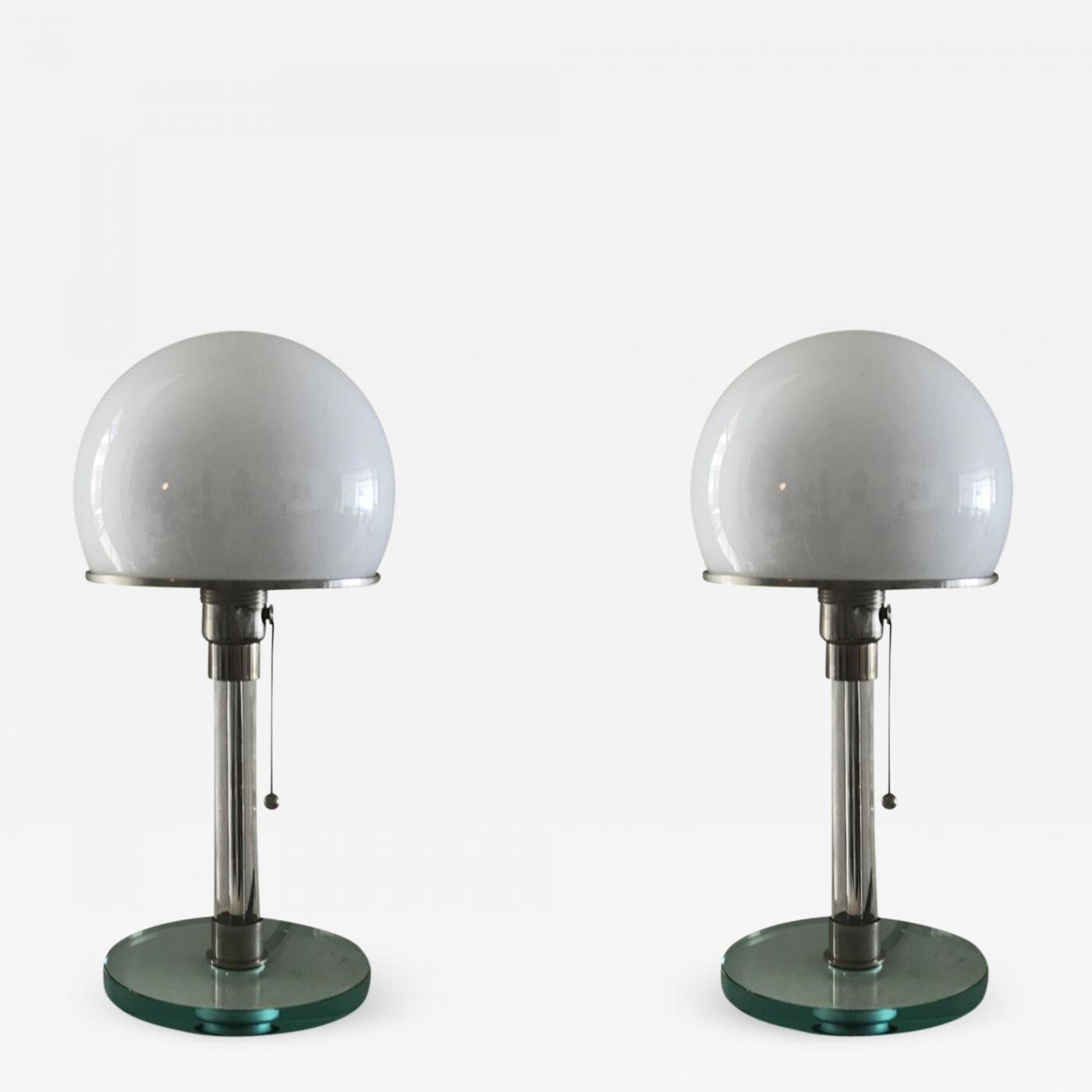 Wilhelm Wagenfeld Pair Of Table Lamps After The Design By Wilhelm