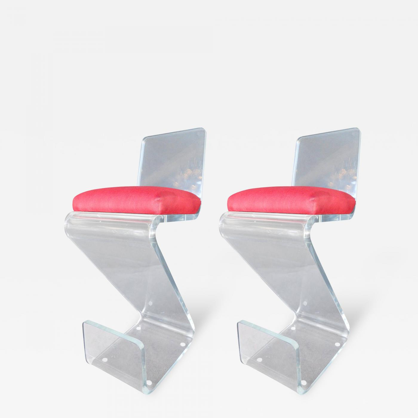 Listings furniture seating stools · pair of vintage lucite bar stools