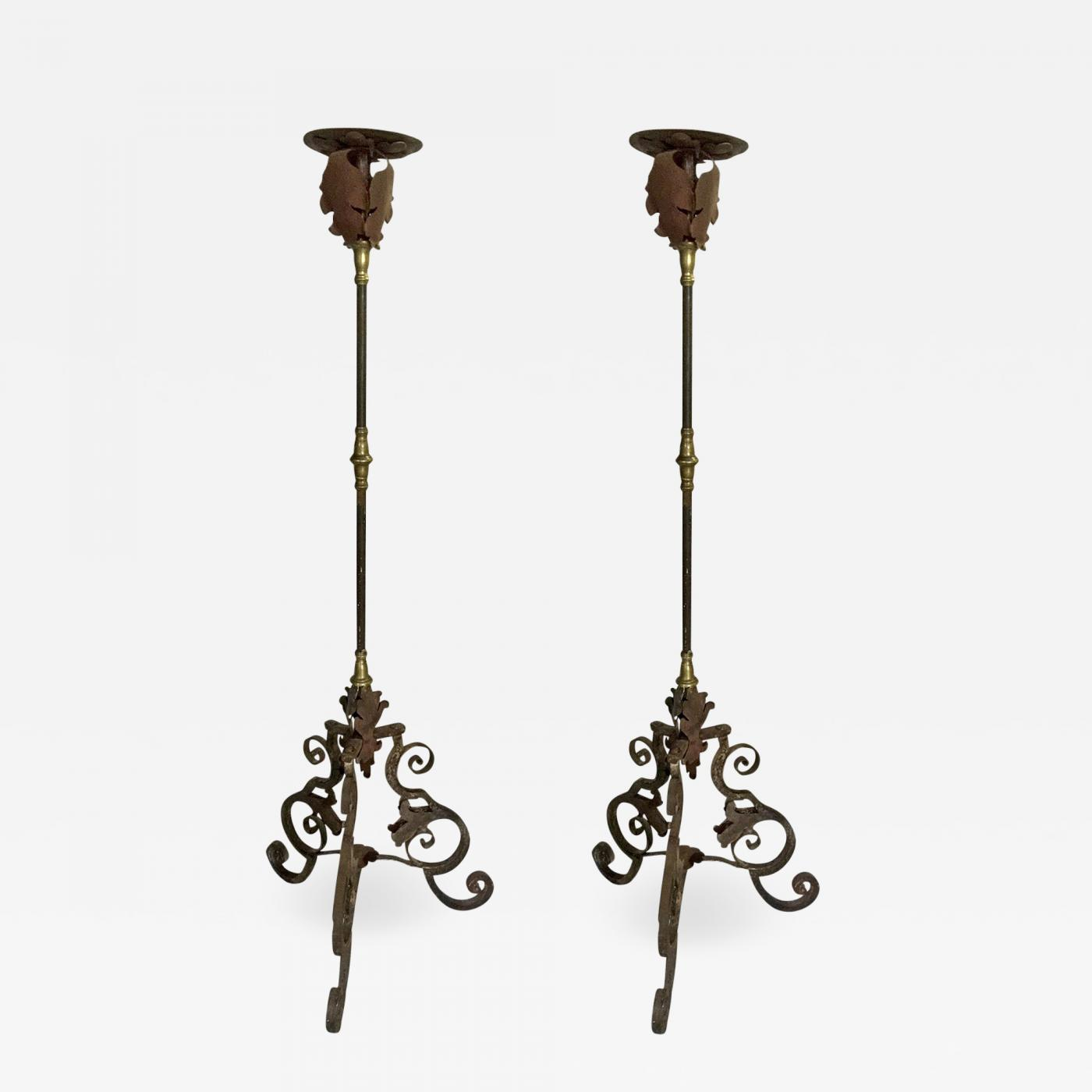 new product a44e7 9657c Pair of Wrought Iron Floor Lamps