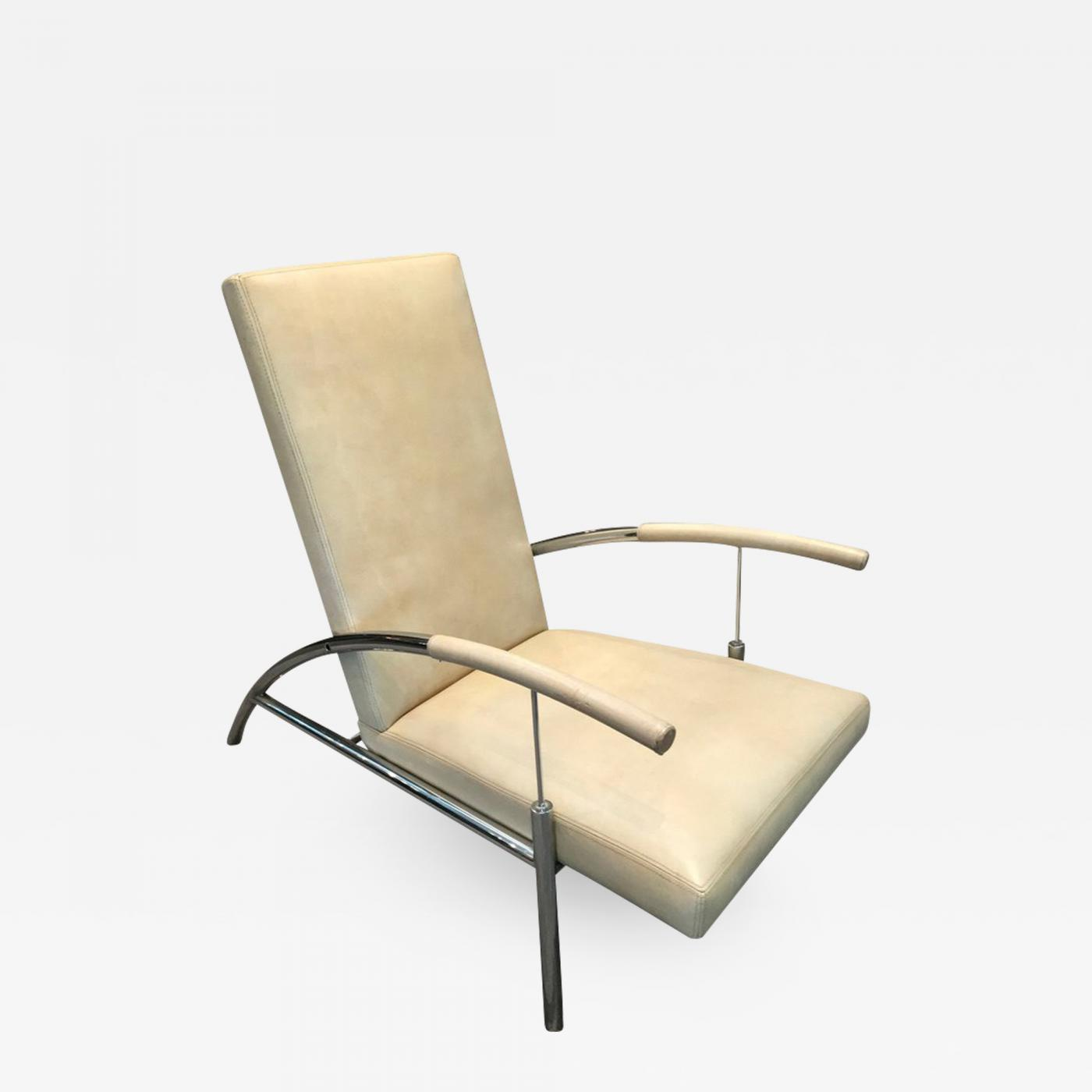 Awesome Pair Of Stylish Chrome And Leather Midcentury Design Lounge Chairs Theyellowbook Wood Chair Design Ideas Theyellowbookinfo