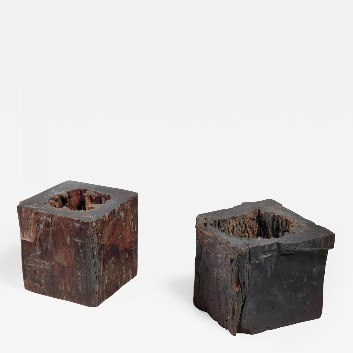 Strange Pair Of Wooden Craft Stools From Brazil 19Th Century Andrewgaddart Wooden Chair Designs For Living Room Andrewgaddartcom