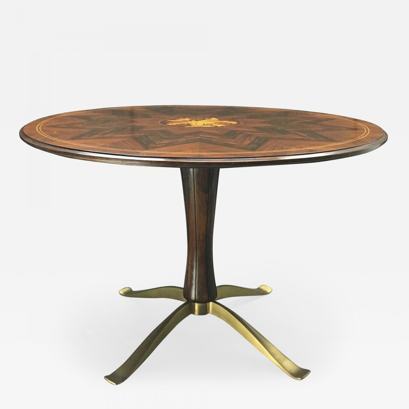 Paolo buffa a rosewood and gilt bronze dining table by for Dining table tj hughes