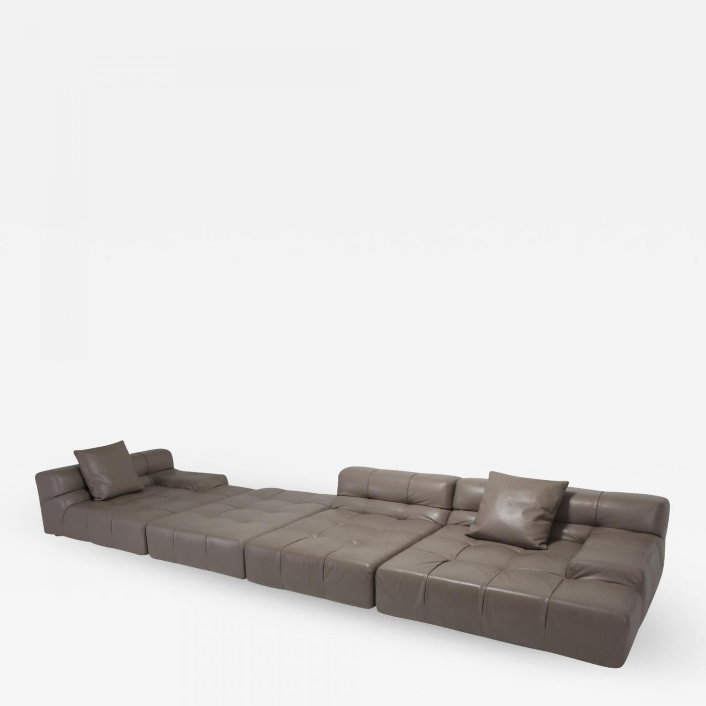 Peachy Tufty Time Bb Italia Taupe Leather Sectional Sofa By Patricia Short Links Chair Design For Home Short Linksinfo