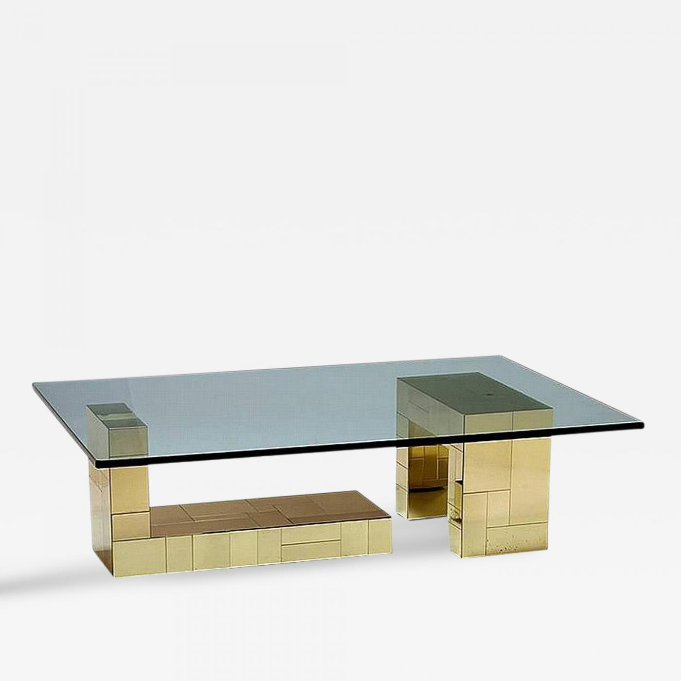 Paul Evans Brass Cityscape Coffee Table Paul Evans