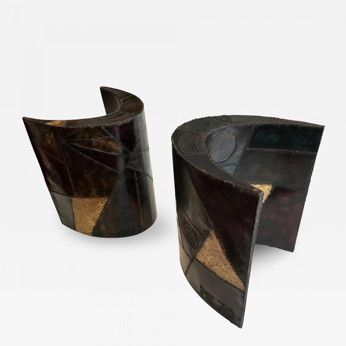 Paul Evans Sculptured Steel Dining Table Bases Paul Evans
