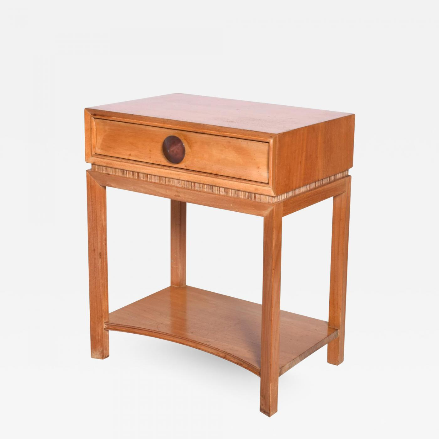 Paul Frankl Paul Frankl Fancy End Table Nightstand In Blonde Mahogany Art Deco Accent 1950s