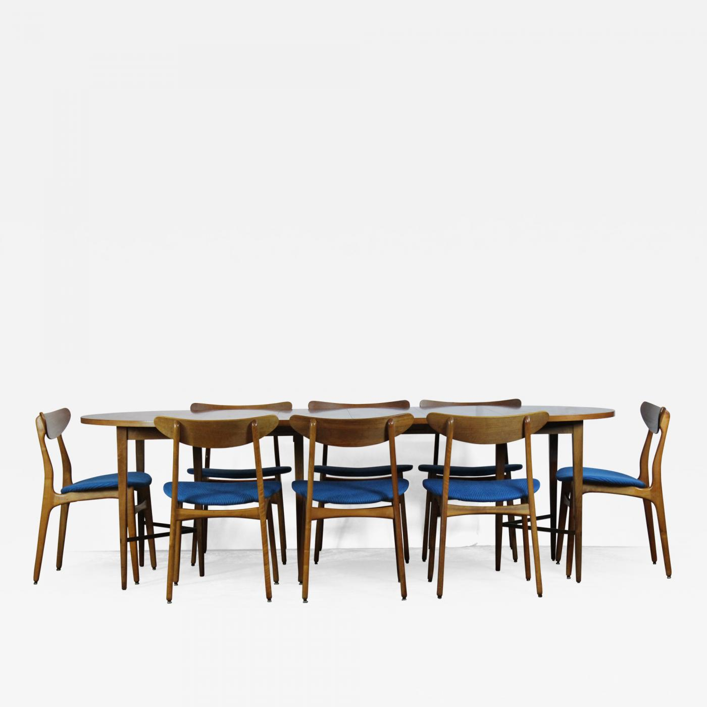Strange Paul Mccobb Paul Mccobb Dining Table 8 Chairs Home Remodeling Inspirations Cosmcuboardxyz
