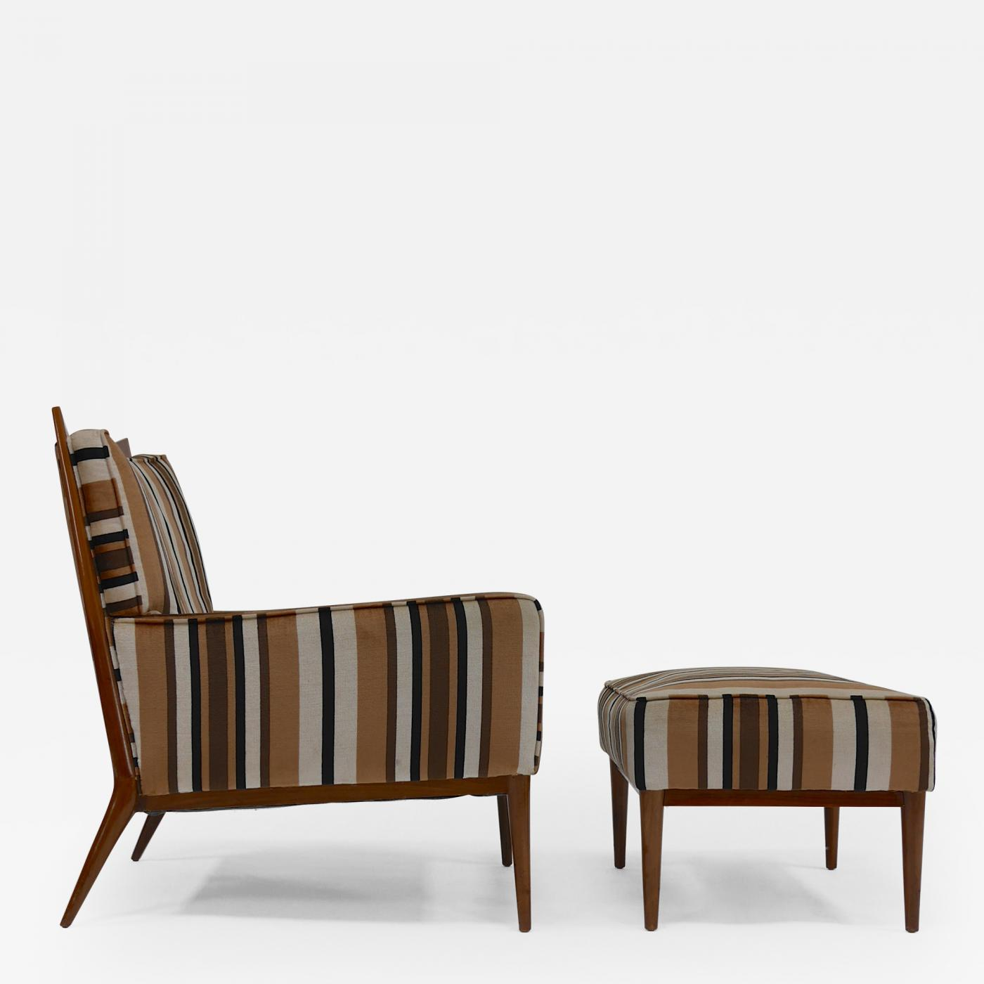 Paul McCobb Lounge Chair and Ottoman by Paul McCobb for Directional